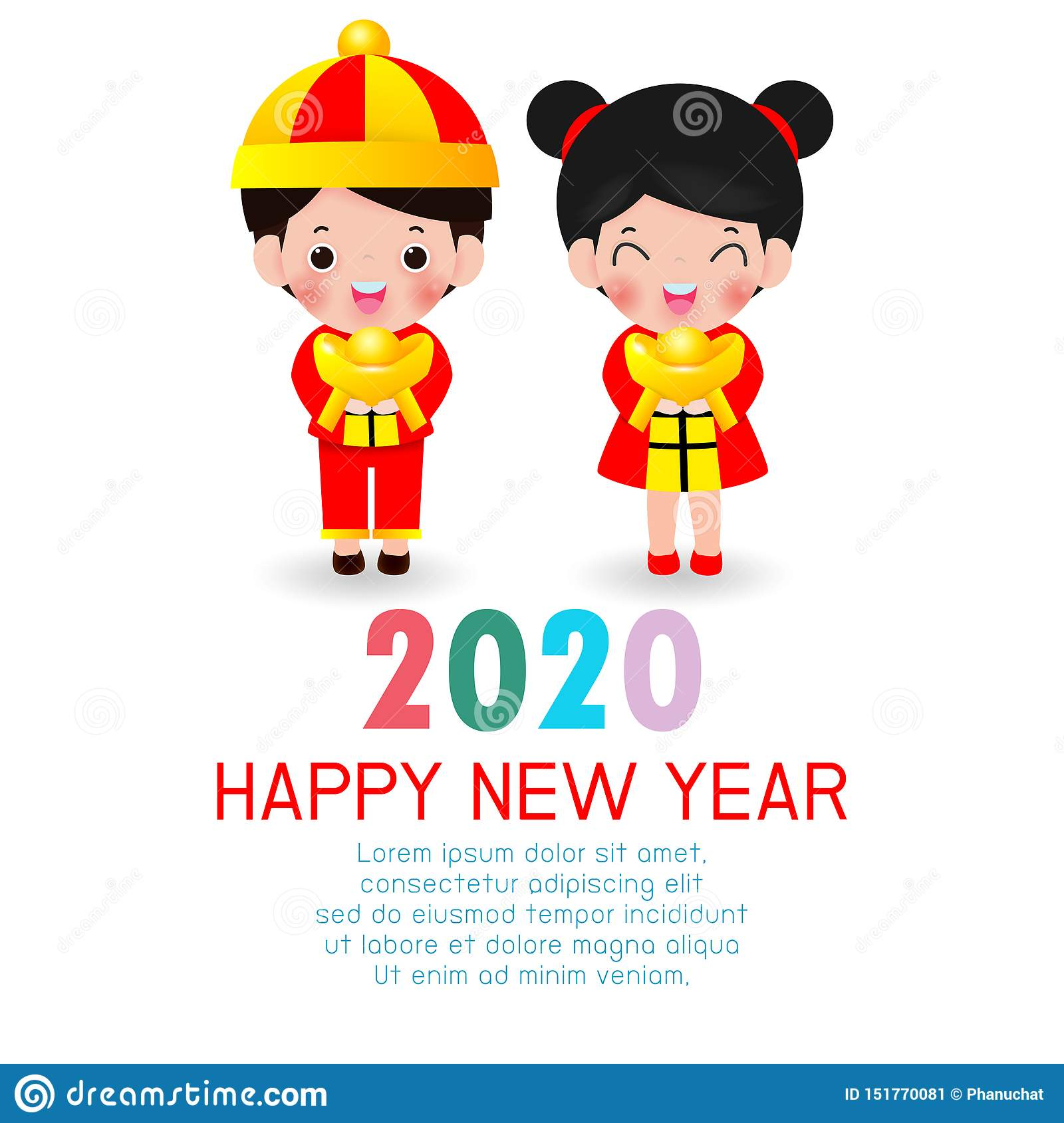 Happy New Year 2020 Chinese New Year The Year Of The Rat
