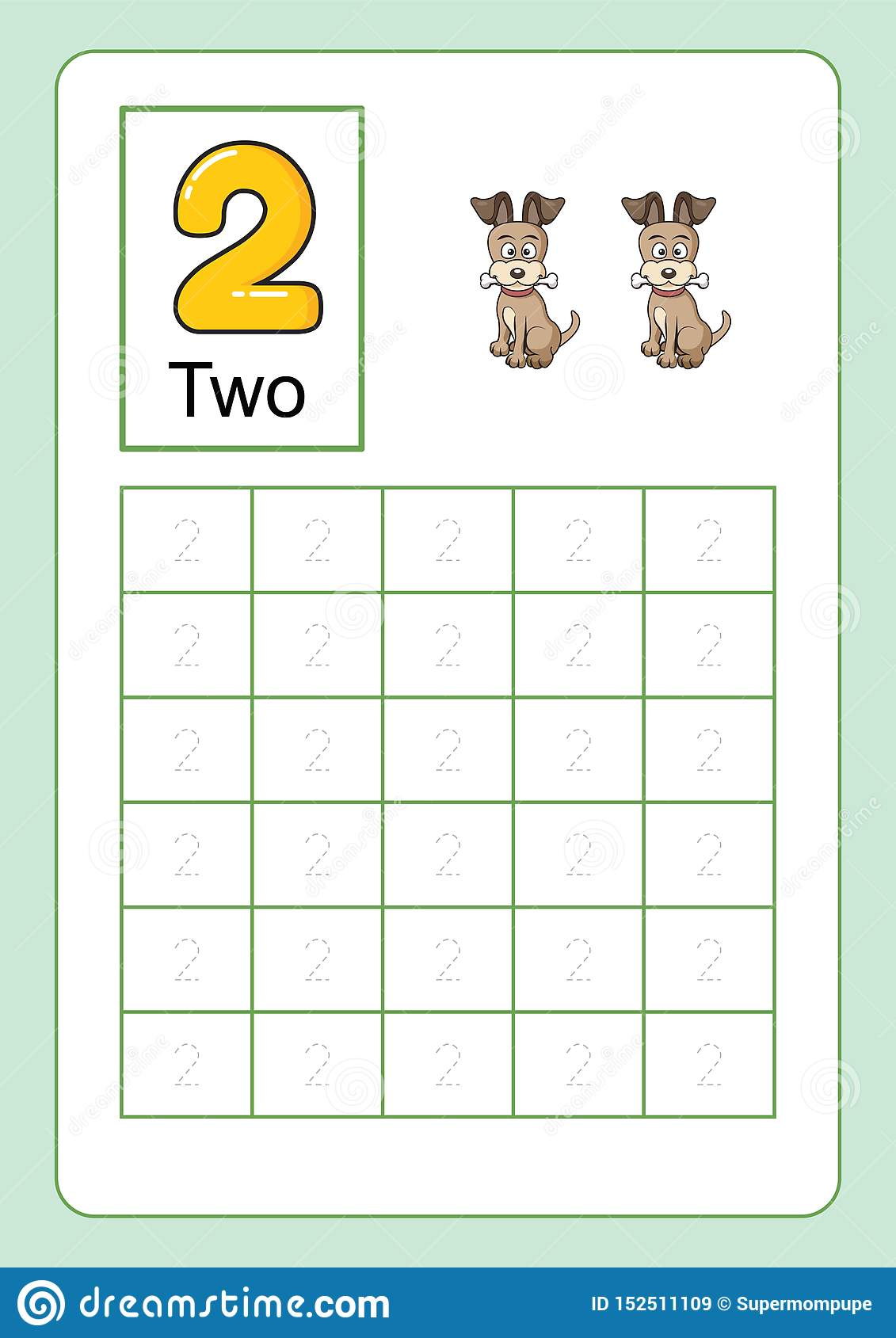 - Number Tracing And Writing Tracing Worksheet For Kindergarten