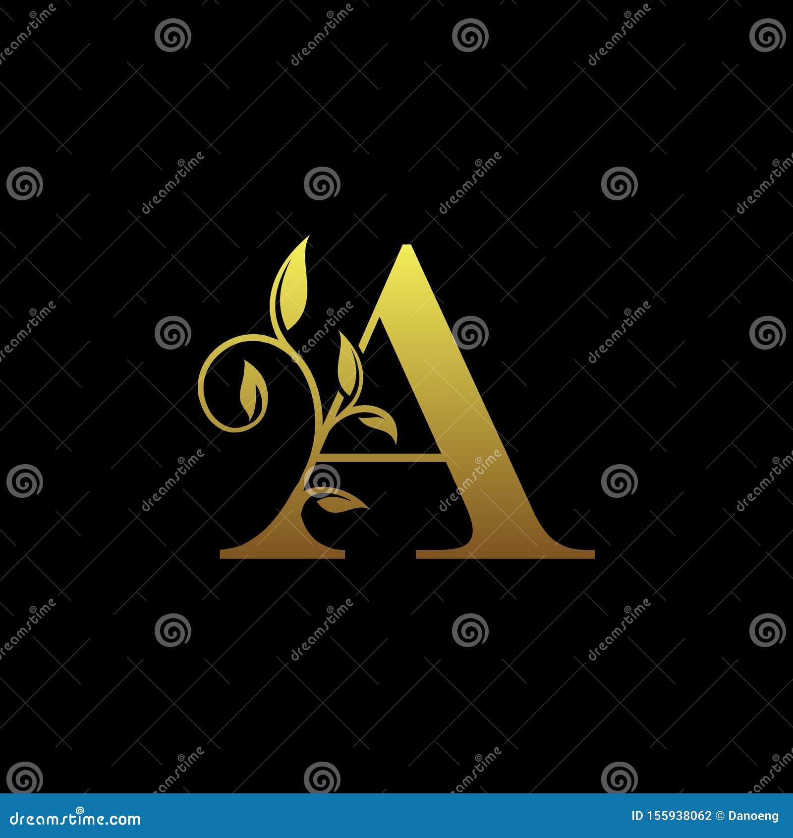 Feminine Floral Letter Logo Template:  Letter L. Luxury Logo Template Flourishes Calligraphic
