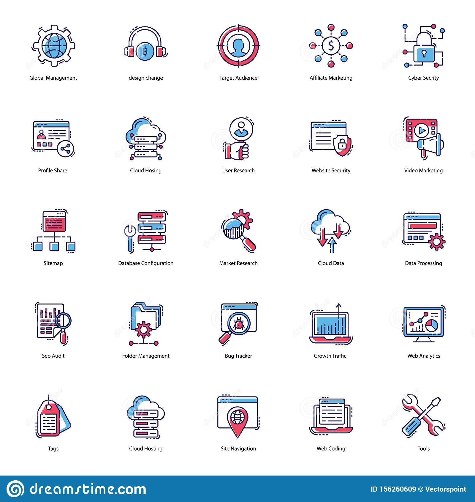 Web Flat Icons Pack