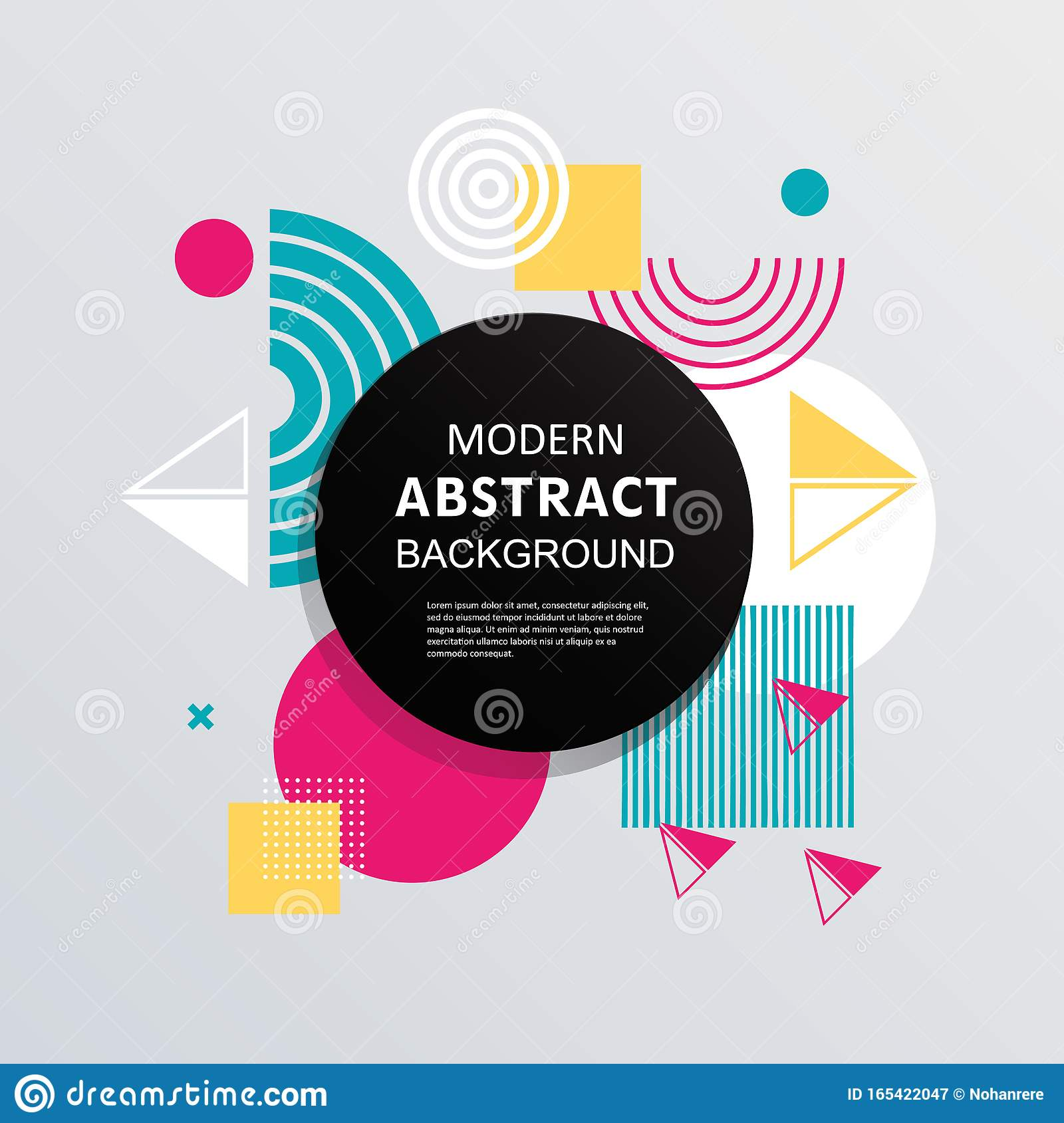 modern abstract full color background geometry design for banner poster template and flyer stock illustration illustration of flyer template 165422047 dreamstime com