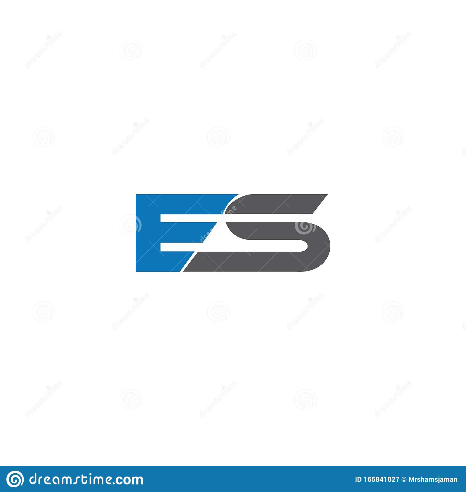 Initial Letter Es Or Se Logo Vector Logo Design Stock Vector Illustration Of Circle Template 165841027