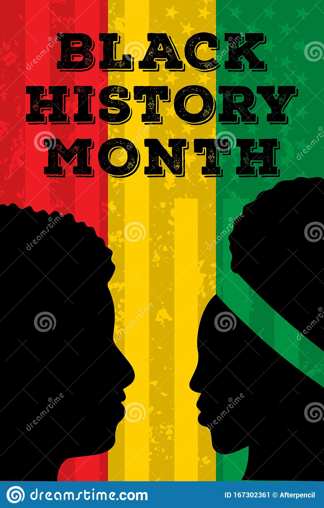 Black History Month Poster Background Vector Illustration Stock Illustration Illustration Of Event Flags 167302361