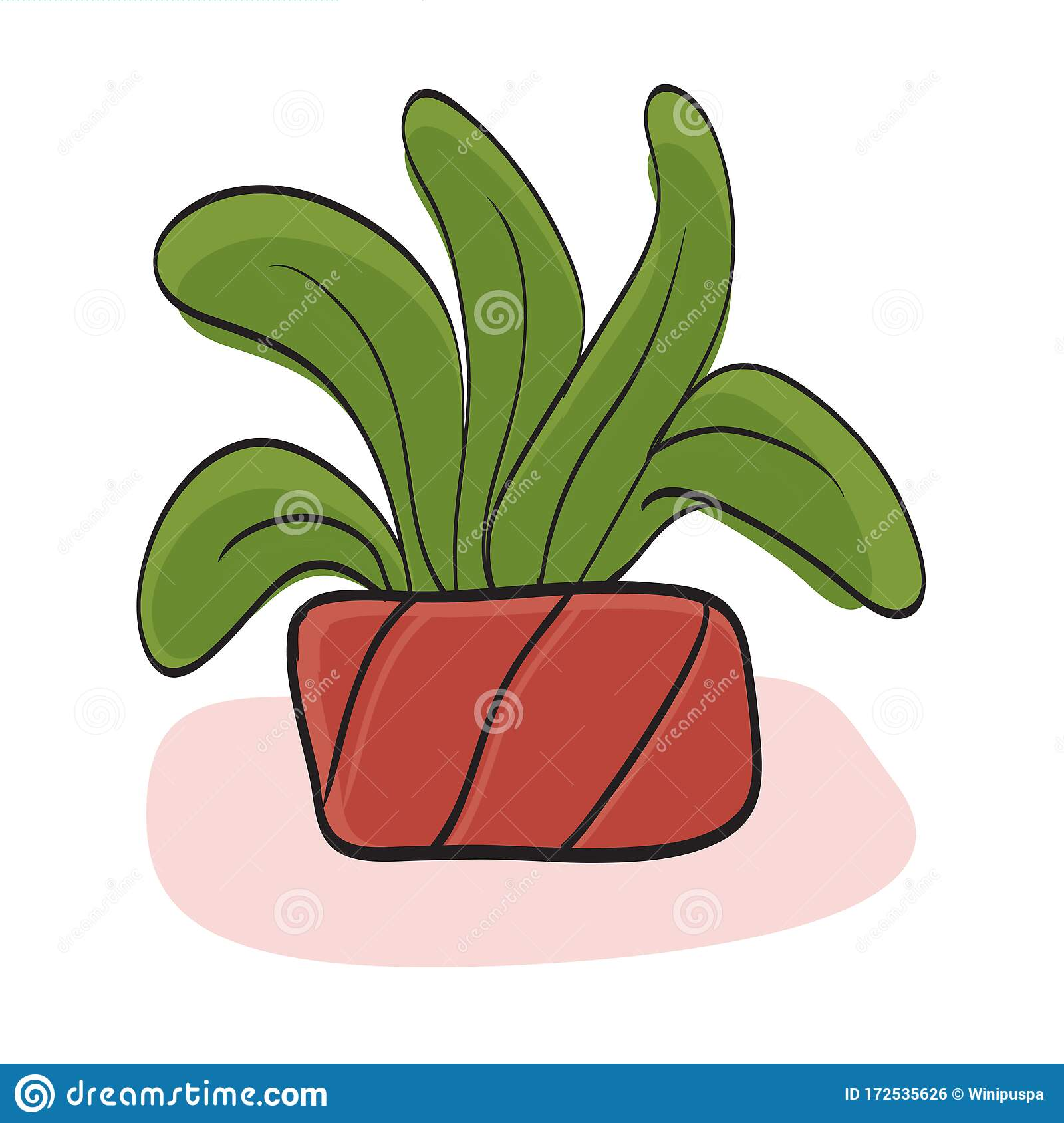 Cute Plant Vector Small Plant In Pot Succulents Or Cactus Stock Vector Illustration Of Floral Fresh 172535626