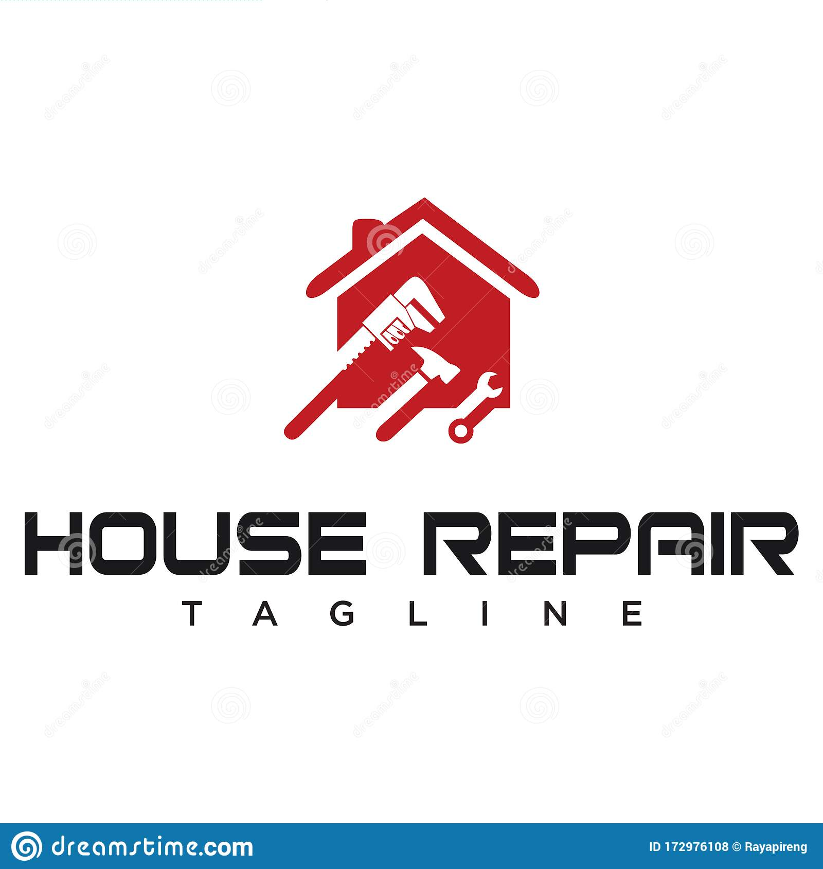 Home Repair Logo House Home Improvement Logo Design Creative House Renovation Service Logo Design Modern Real Estate Logo Com Stock Vector Illustration Of Home Design 172976108
