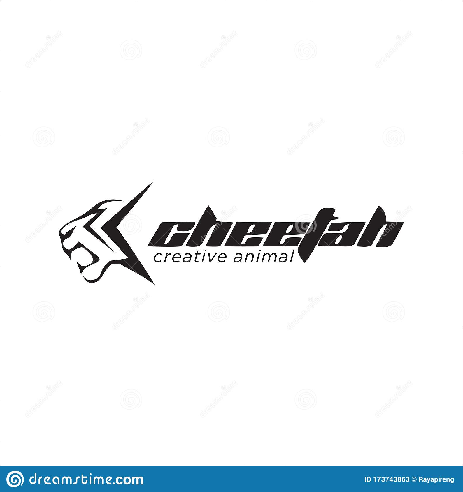 simple abstract cheetah logo design silhouette stock cheetah head logo vector illustration stock vector illustration of cheetah concept 173743863 dreamstime com