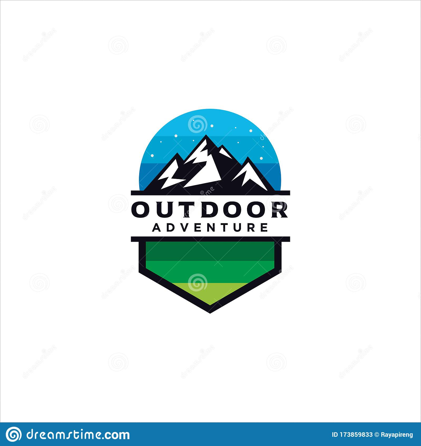 Alpine Mountain Adventure Logo Mountain Outdoor Logo Design Hiking Camping Expedition And Outdoor Adventure Exploring Nature Stock Vector Illustration Of Extreme Logo 173859833