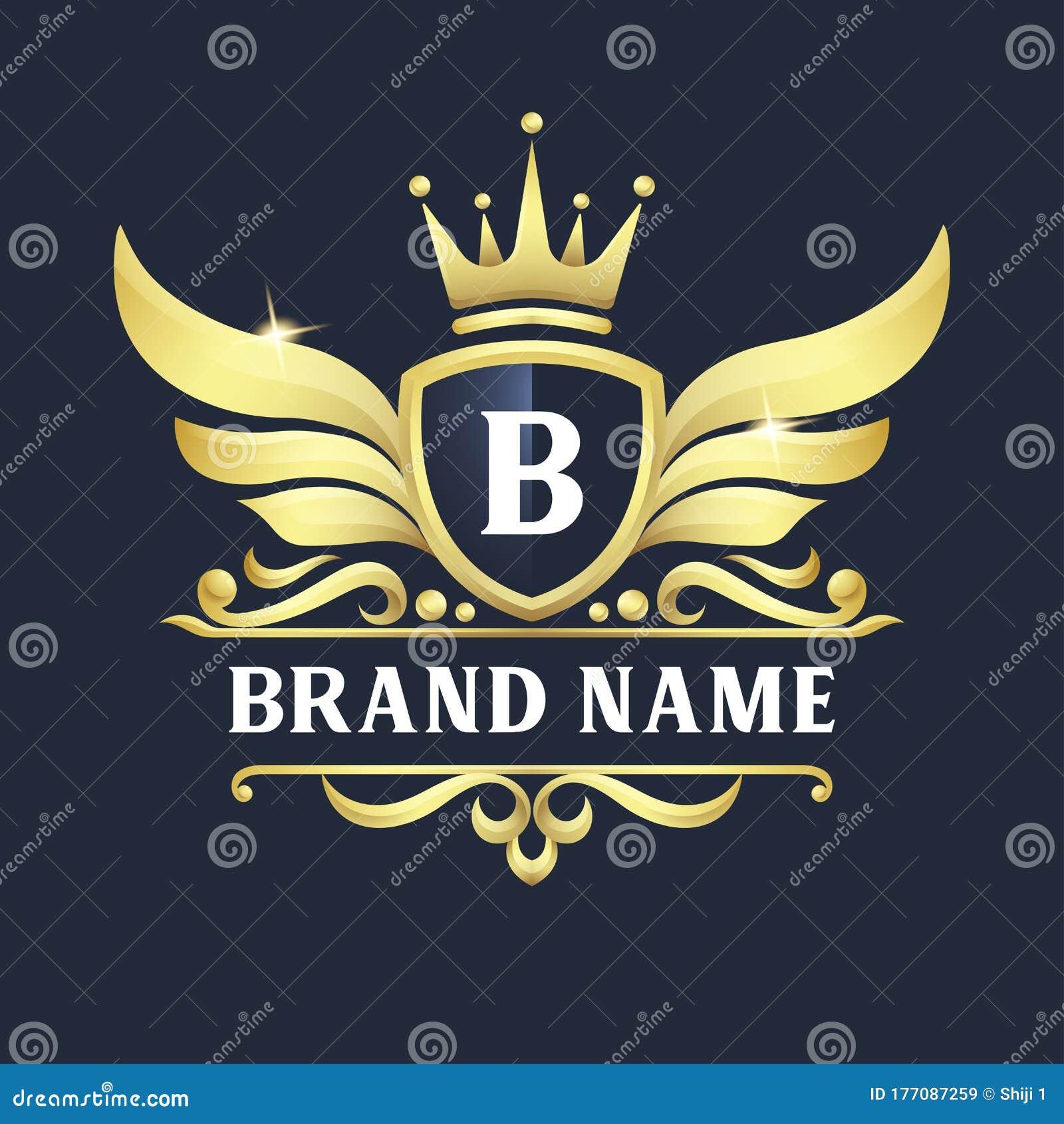 Luxurious Retro Brand Logo Collection: Luxury Badge Logo Design Premium Vector Stock Vector