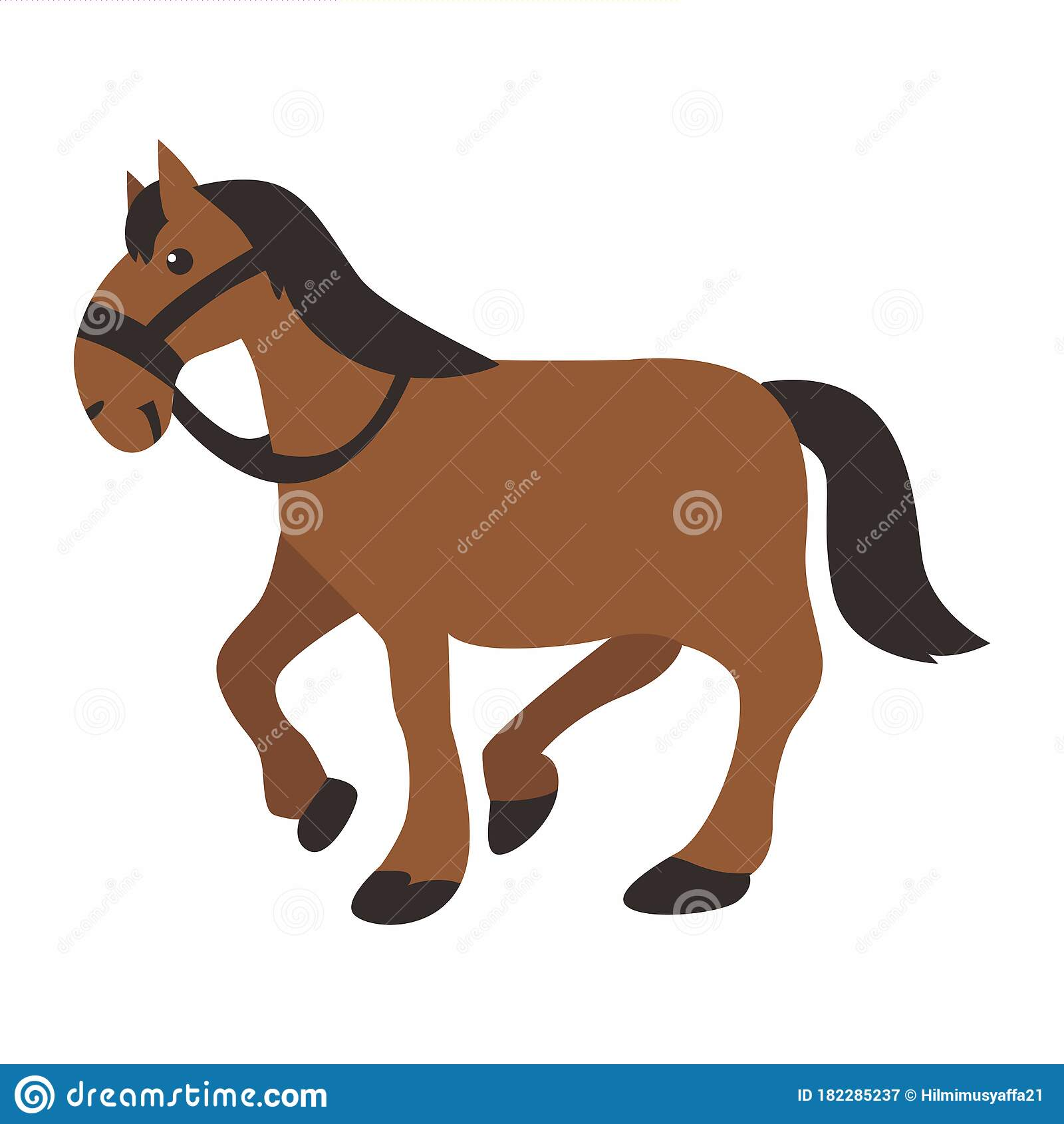 Illustration Graphic Vector Of Horse Cartoon Of Horse Cute Horse On White Background Stock Illustration Illustration Of Character Mammal 182285237