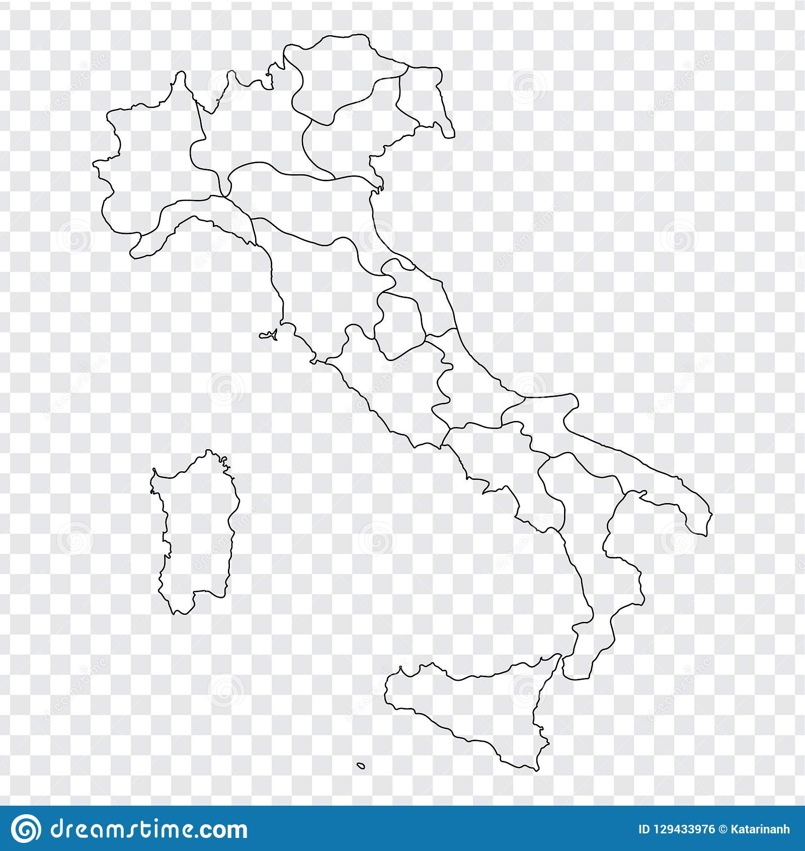 Blank Map Italy High Quality Map Italy With Provinces On