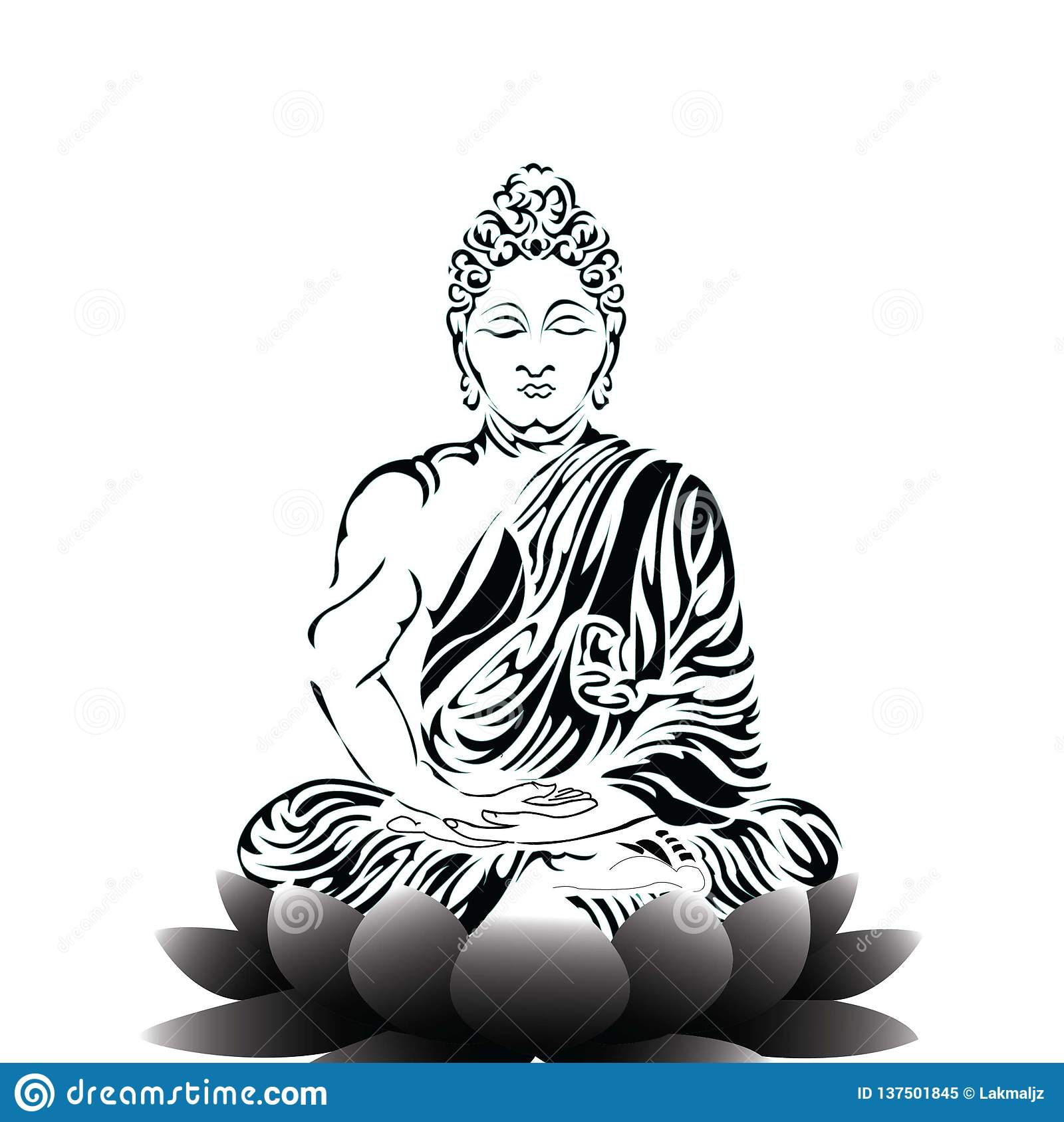 Load Buddha Stock Vector Illustration Of Meditation 137501845