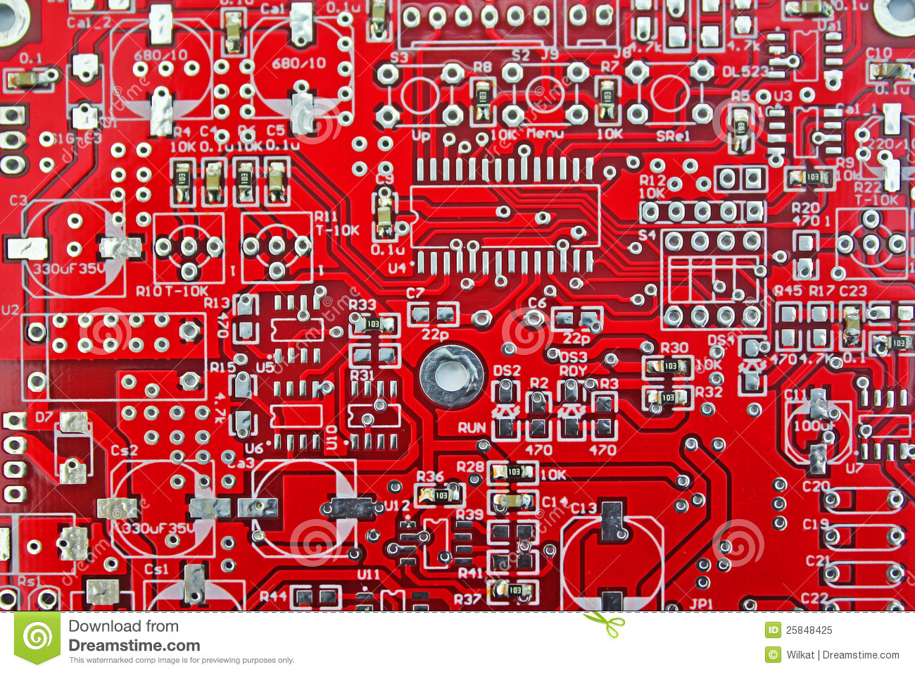 Print Circuit Board Pcb Stock Image Of Hold 25848425 Stockfoto Printed Used In Industrial Electronic Is As Important Components Circuits This The Signal Power Various Devices