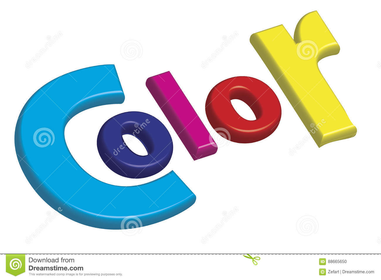 Print Color Letters Illustration With Process Colors CMYK Stock ...