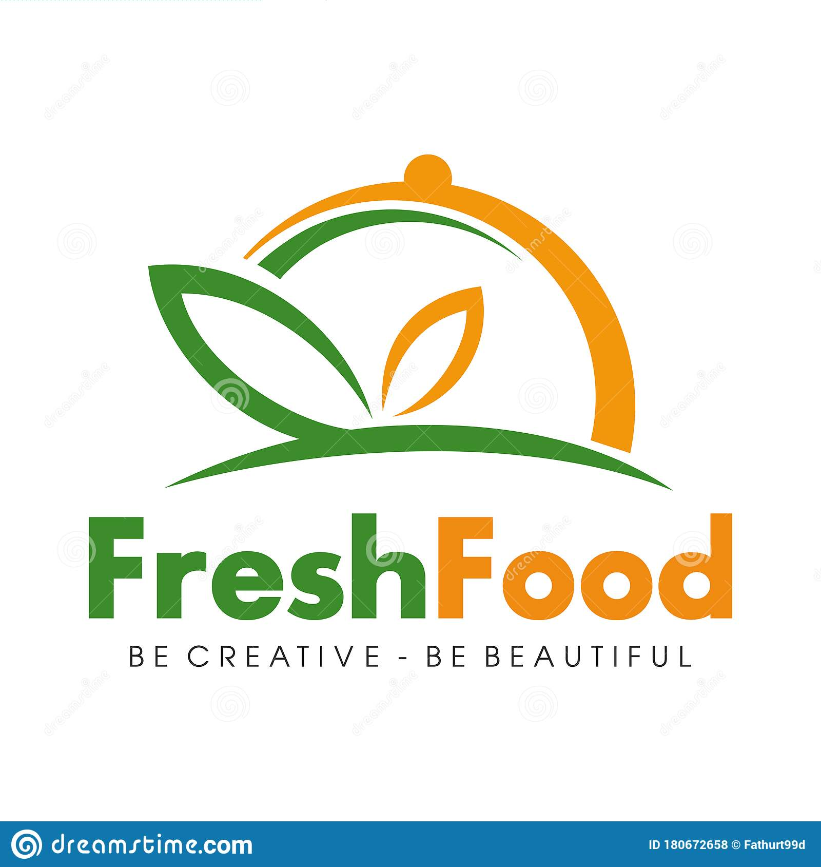 Food Delivery And Restaurant Logo Design Vector Stock Vector Illustration Of Eatery Healthy 180672658