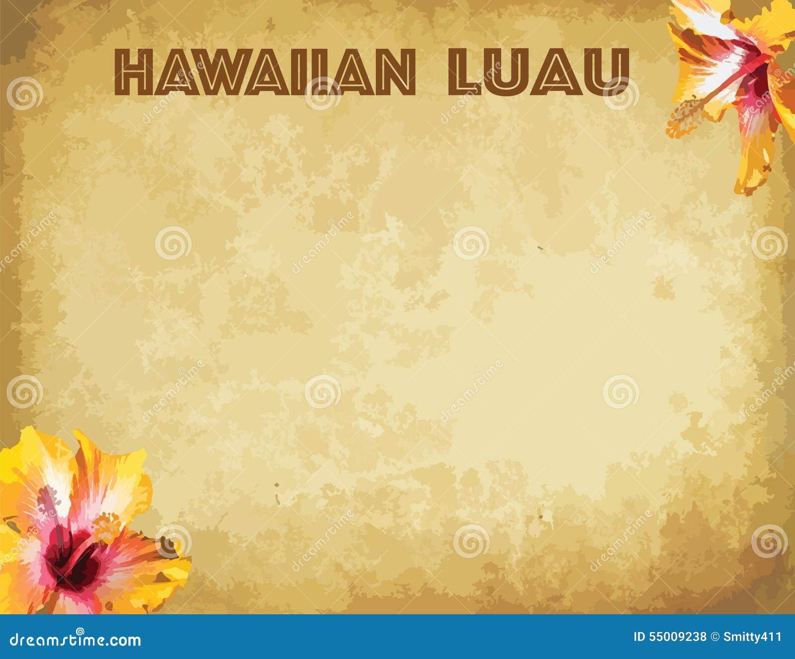 print hawaiian luau party invitation cards stock vector