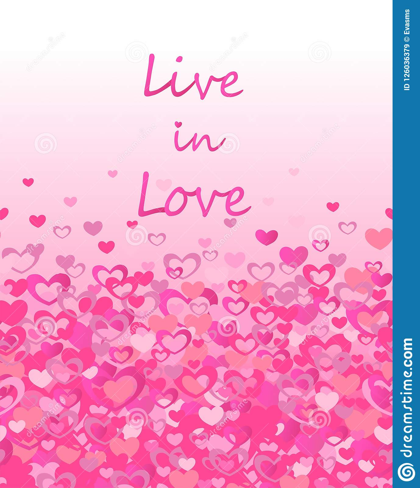 Print With Live In Love Lettering And Seamless Border With