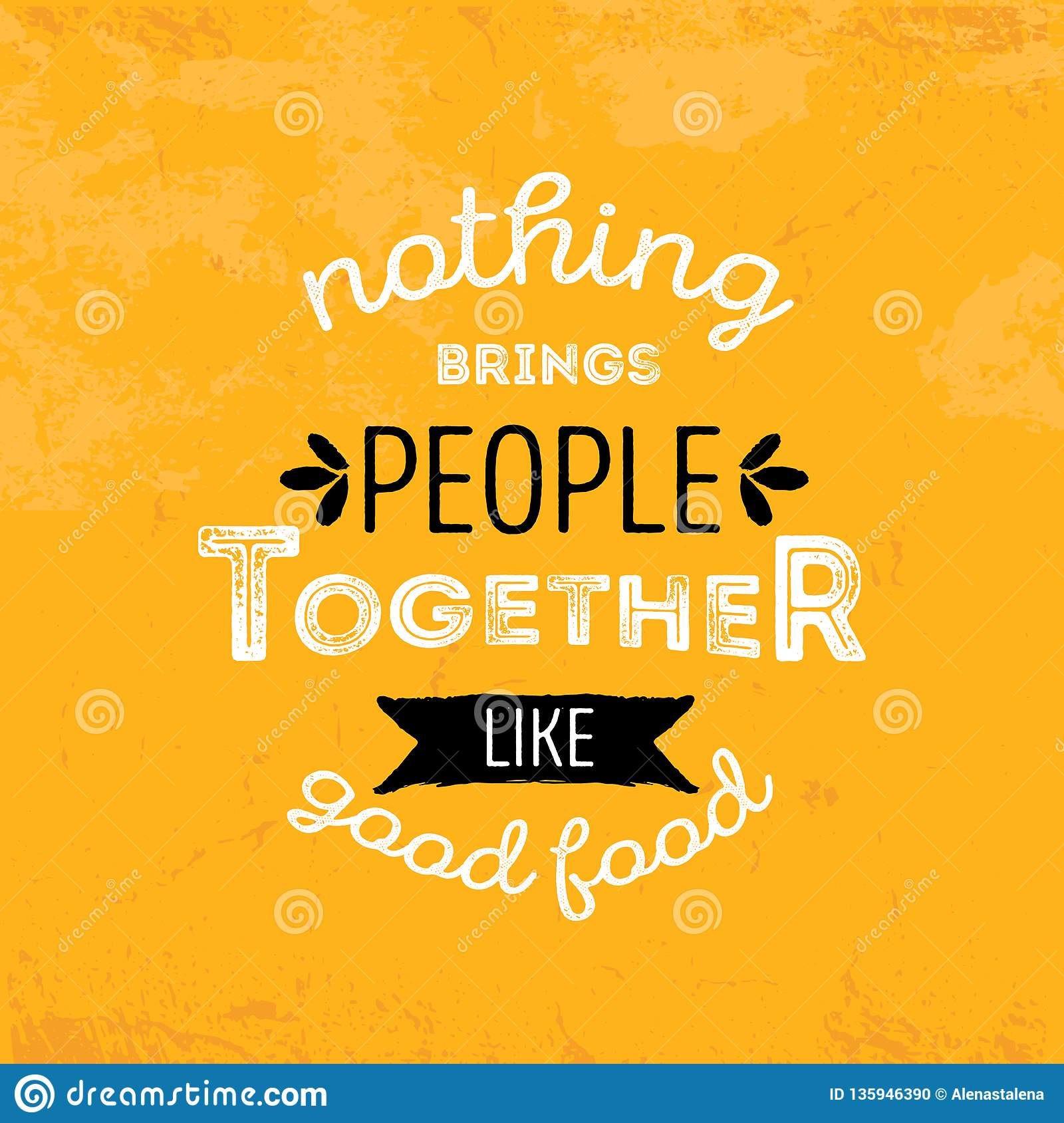 Print Modern Food Typography Poster Quote On Yellow Background ...