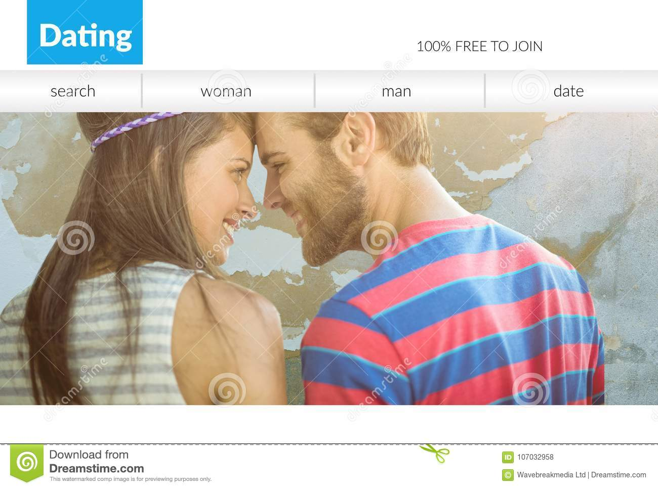 Dating Online, Man And Woman Using Laptop Vector Stock Vector