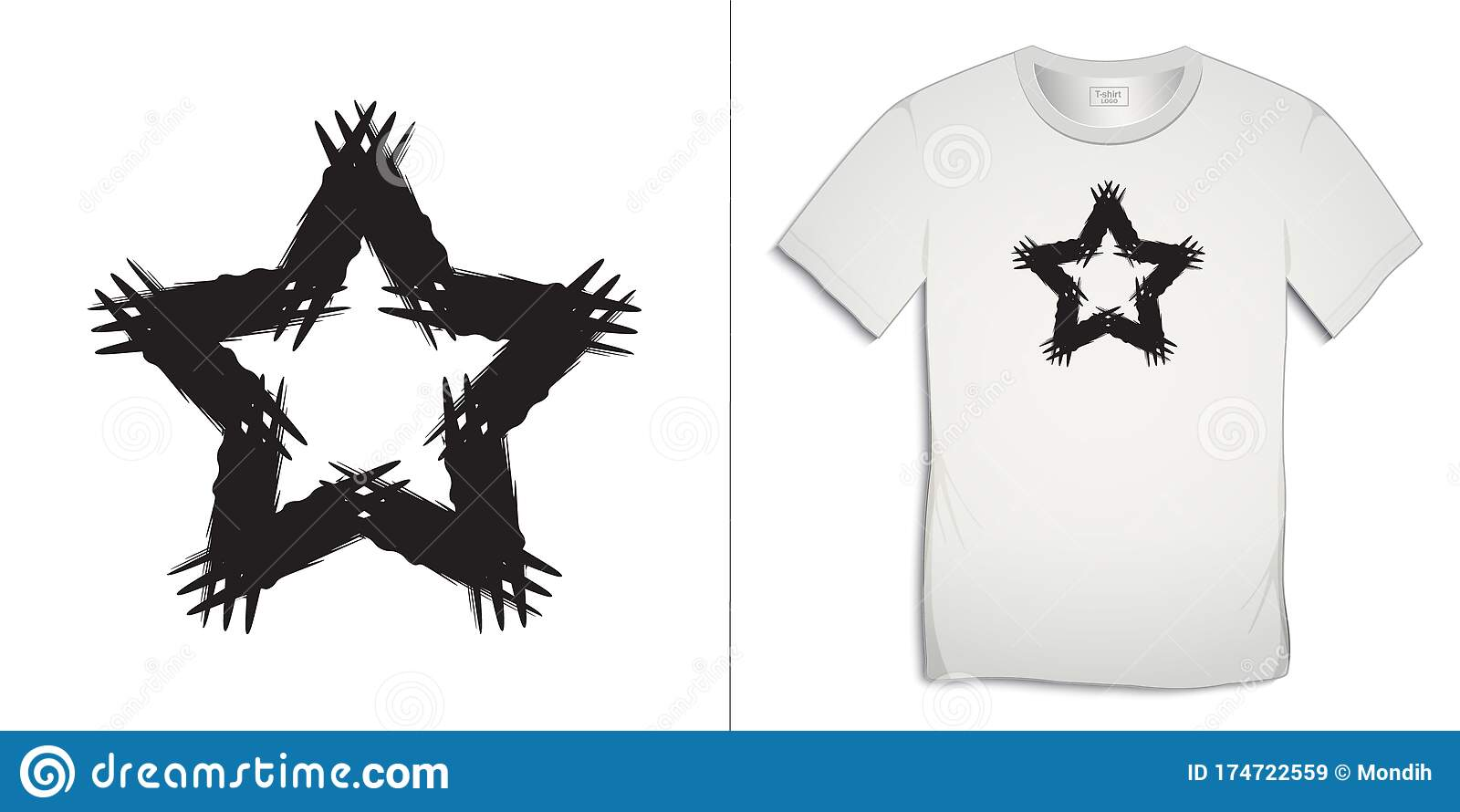 Print On T Shirt Star Icon Painted Art Graphics Design Isolated On White Background Stock Vector Illustration Of Sport Logo 174722559
