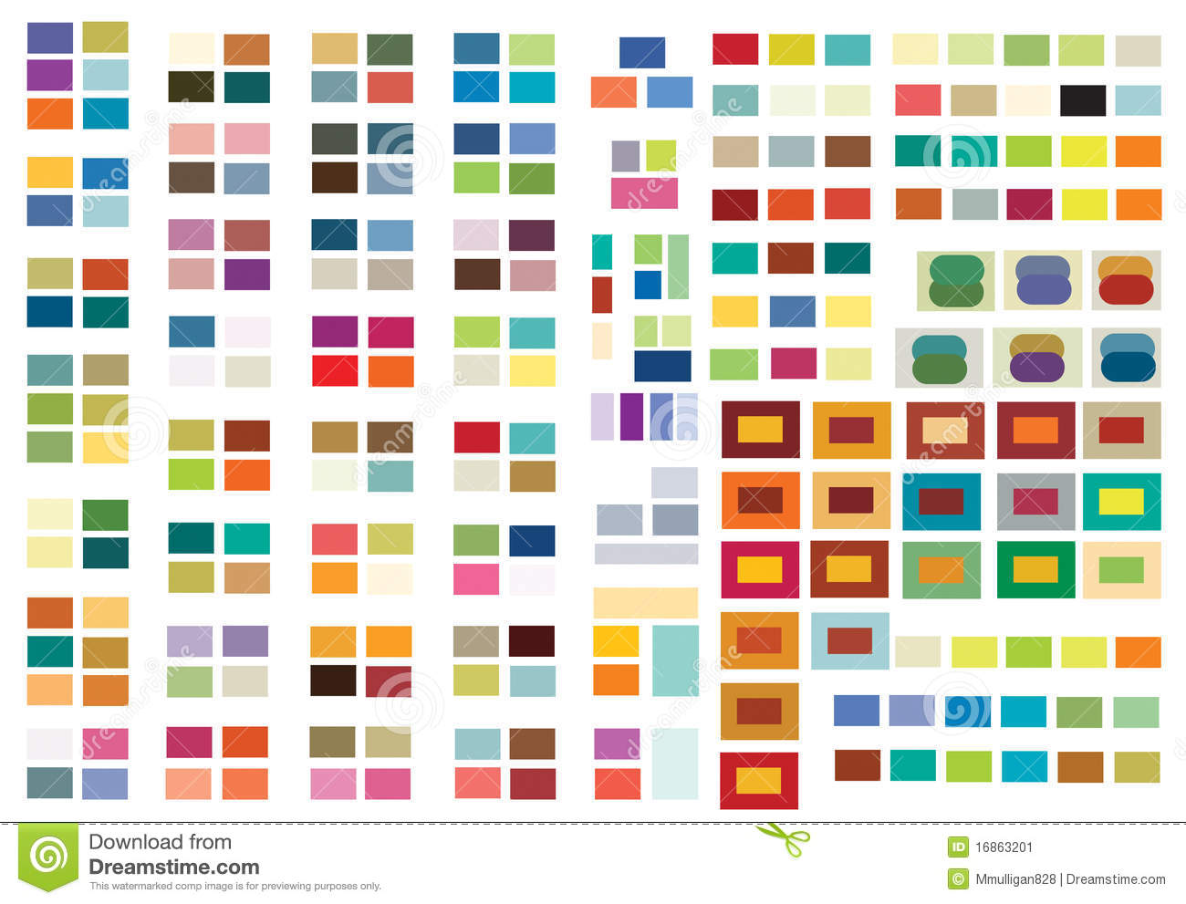 print (or web) color combinations stock image - image: 16863201