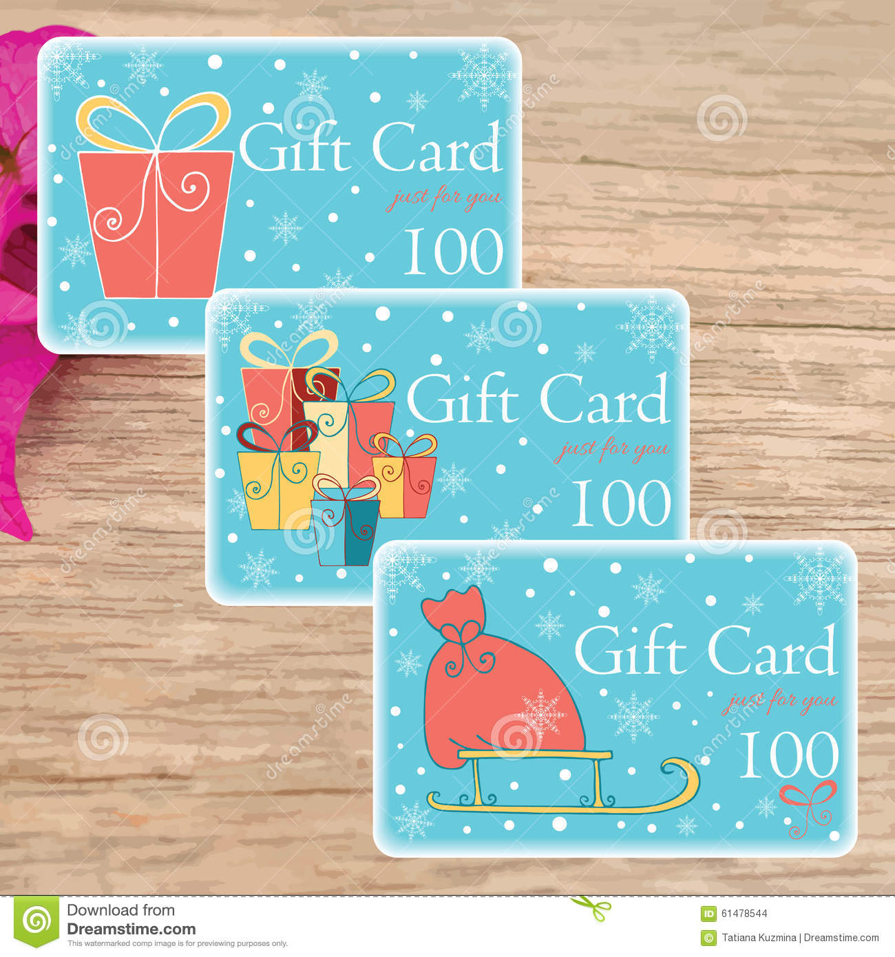 print your own cute christmas cards and gift tags stock illustration