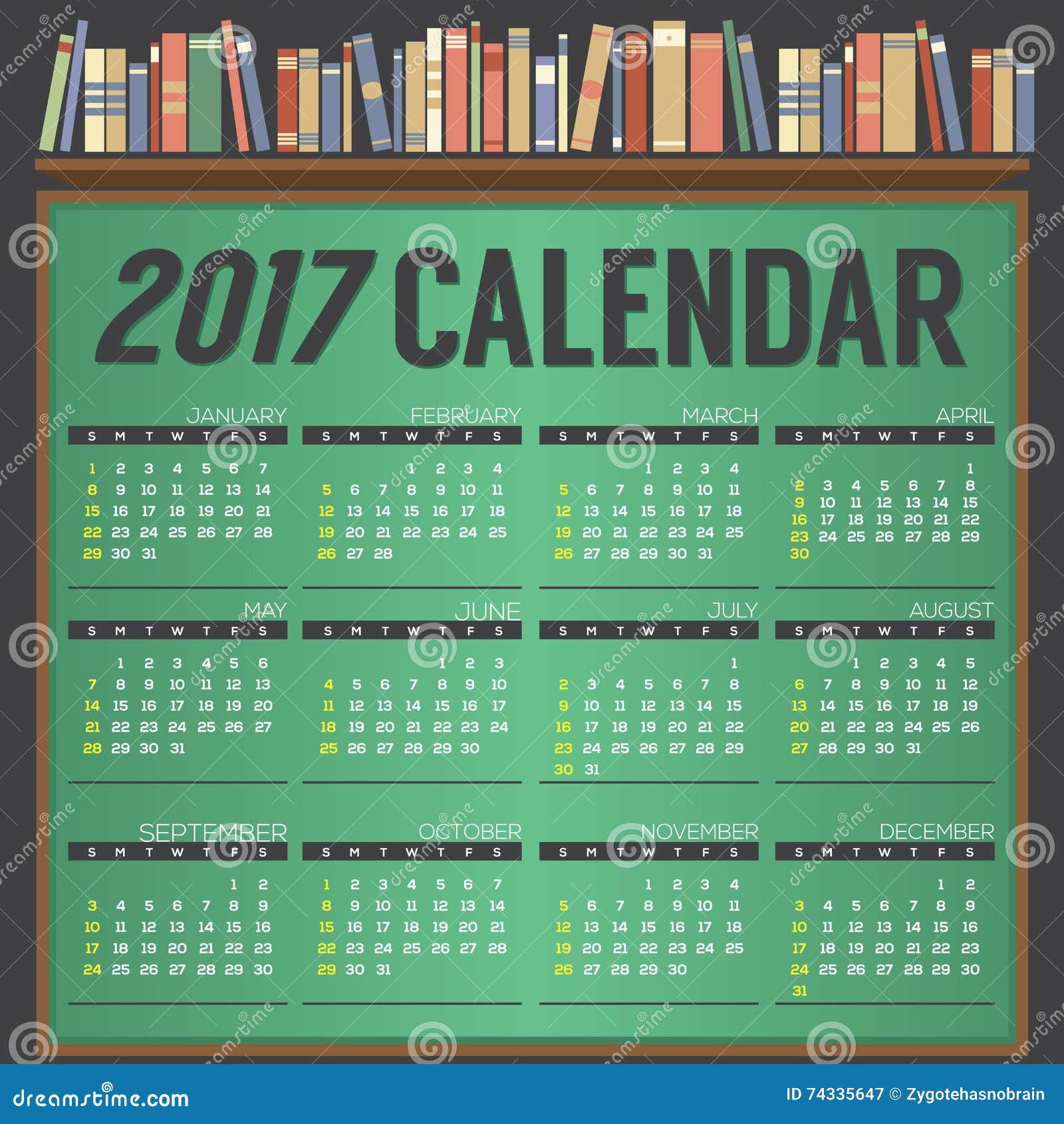 Calendar Illustration Board : Printable calendar starts sunday on chalk board
