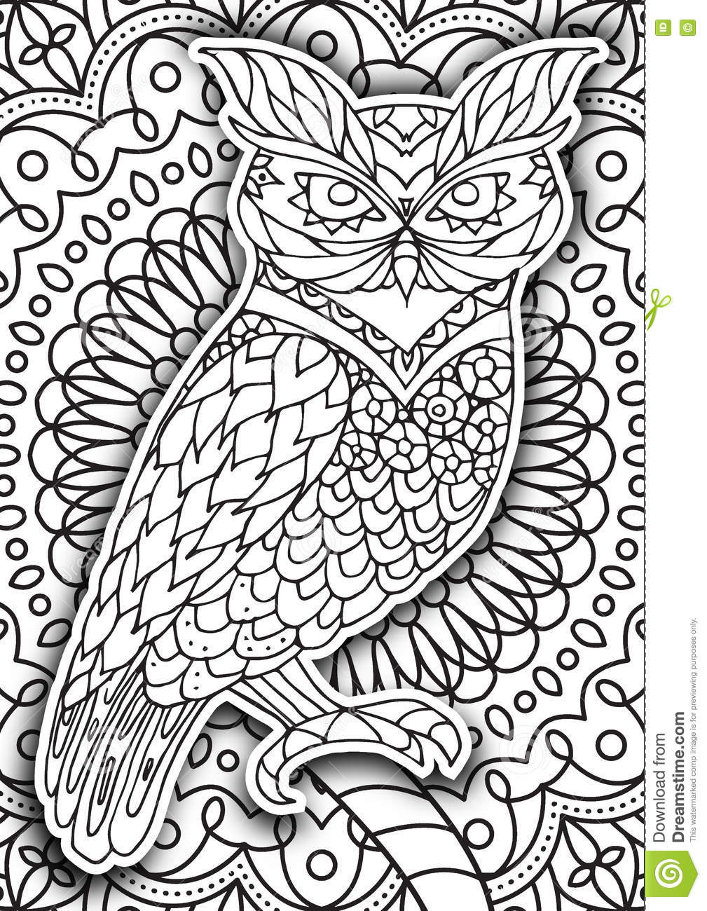printable coloring book page for adults stock vector image 75627075