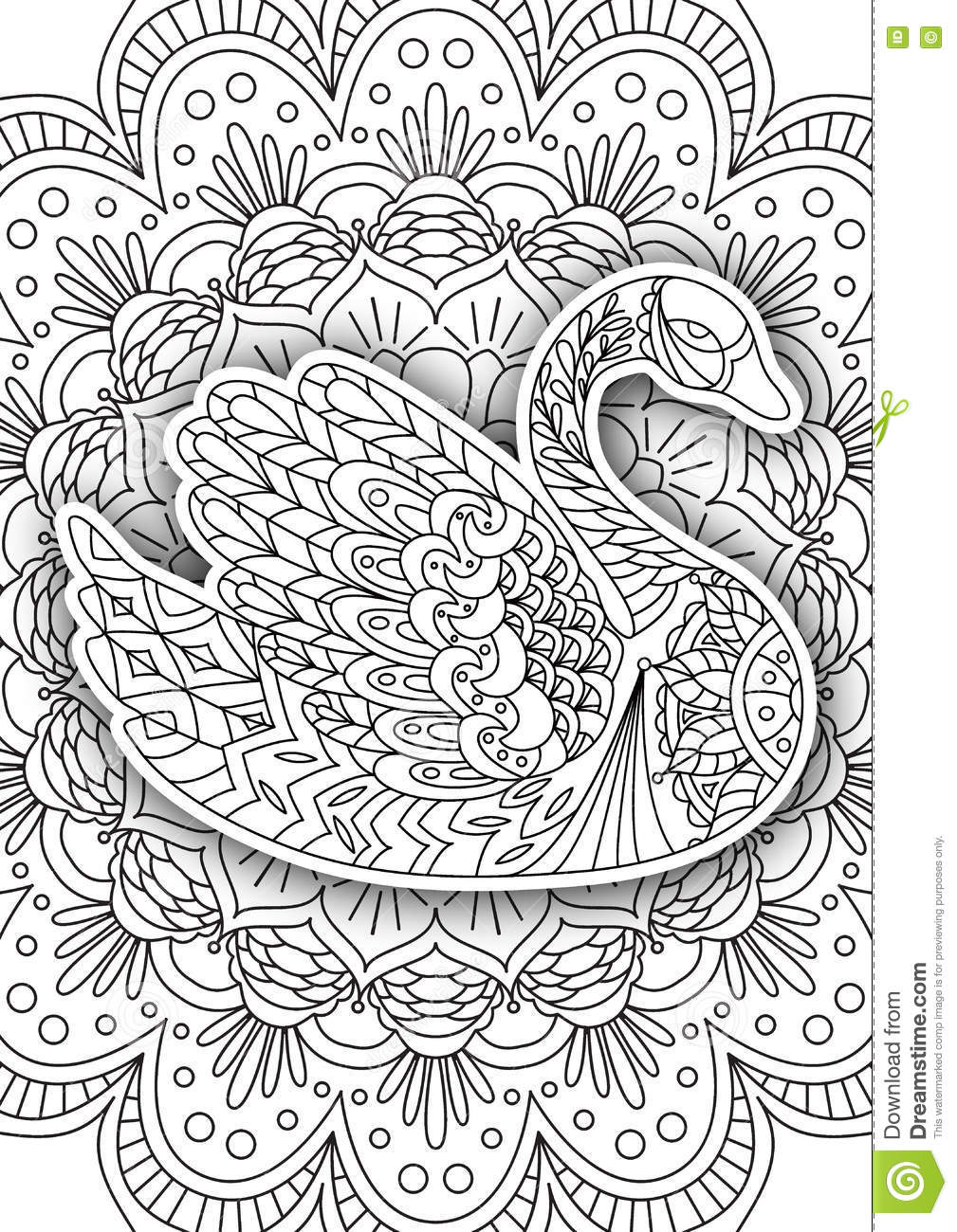 printable coloring book page for adults stock vector image 74673289