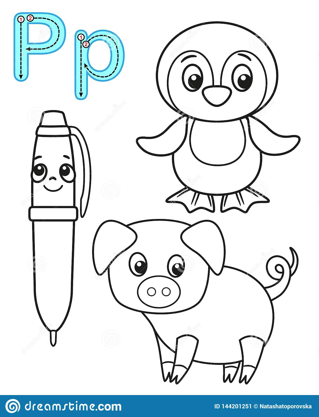 Printable Coloring Page For Kindergarten And Preschool Card For