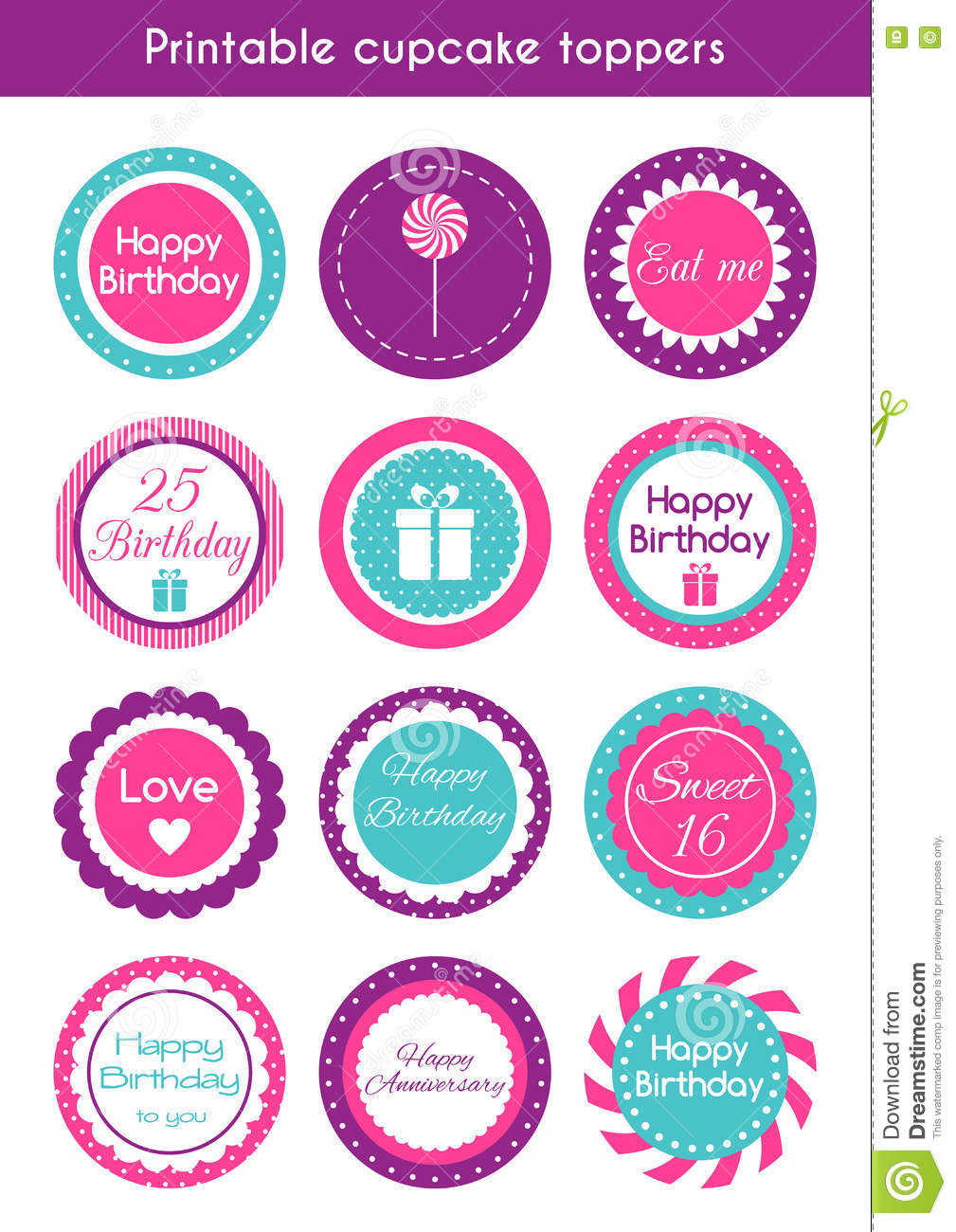 Cupcake Toppers Stock Illustrations 465 Cupcake Toppers Stock Illustrations Vectors Clipart Dreamstime