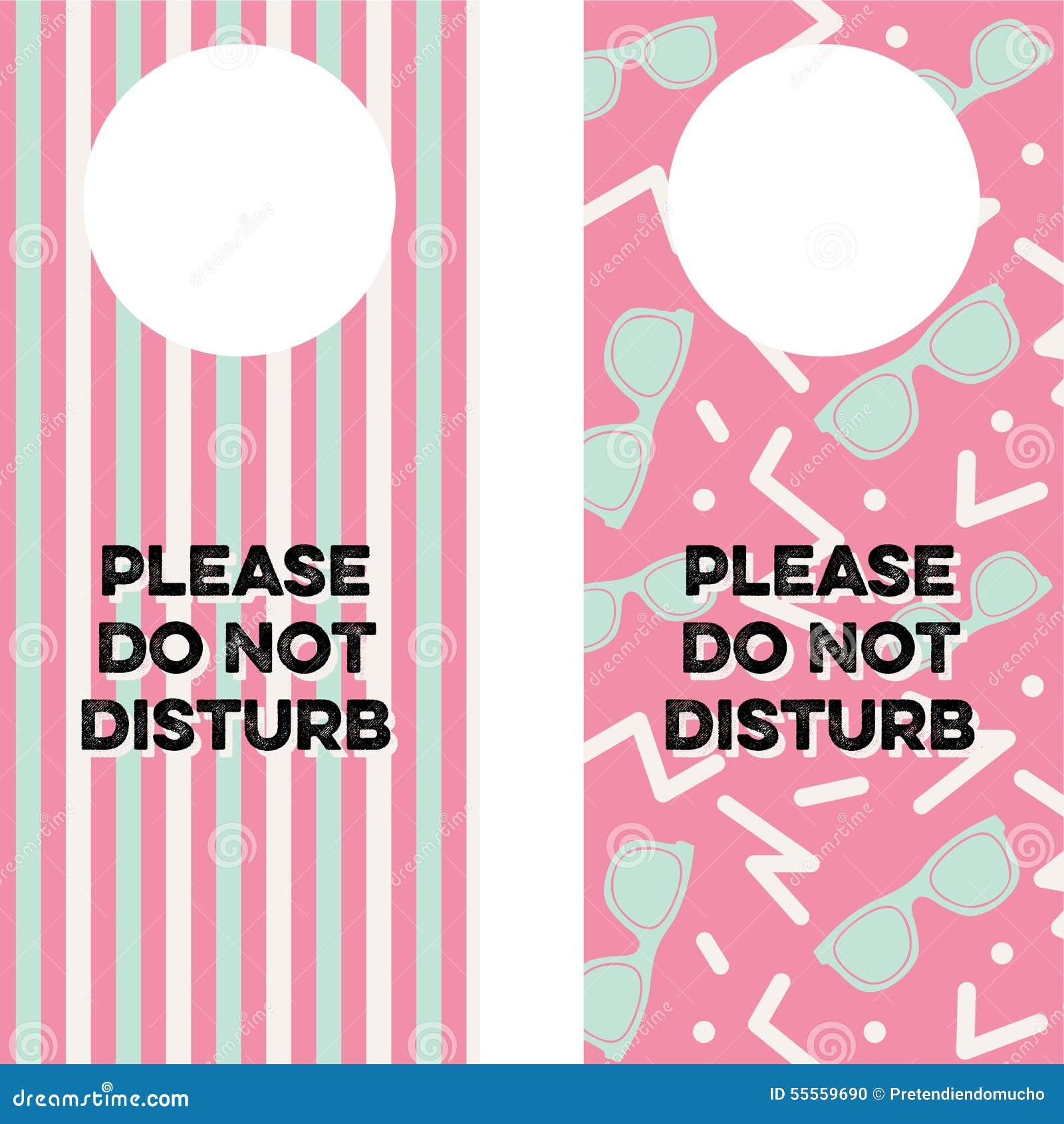 printable do not disturb sign