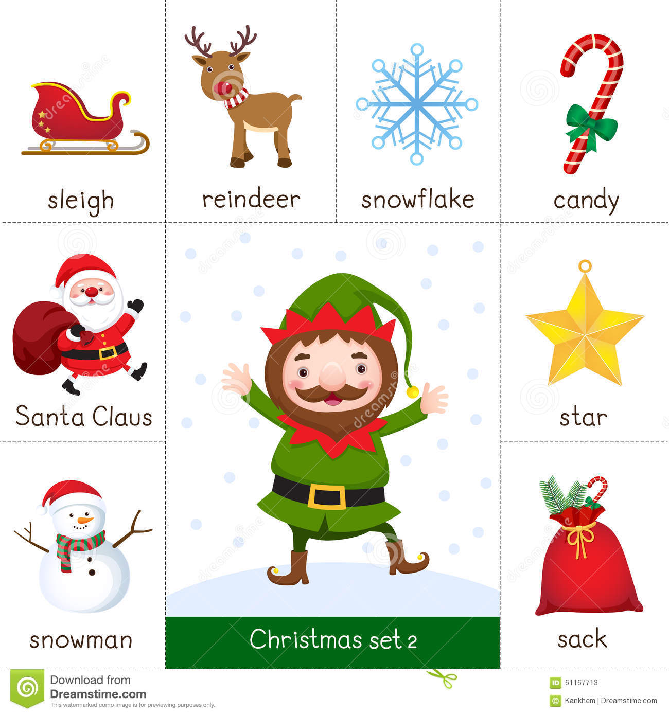 ... For Christmas Set And Christmas Elf Stock Vector - Image: 61167713