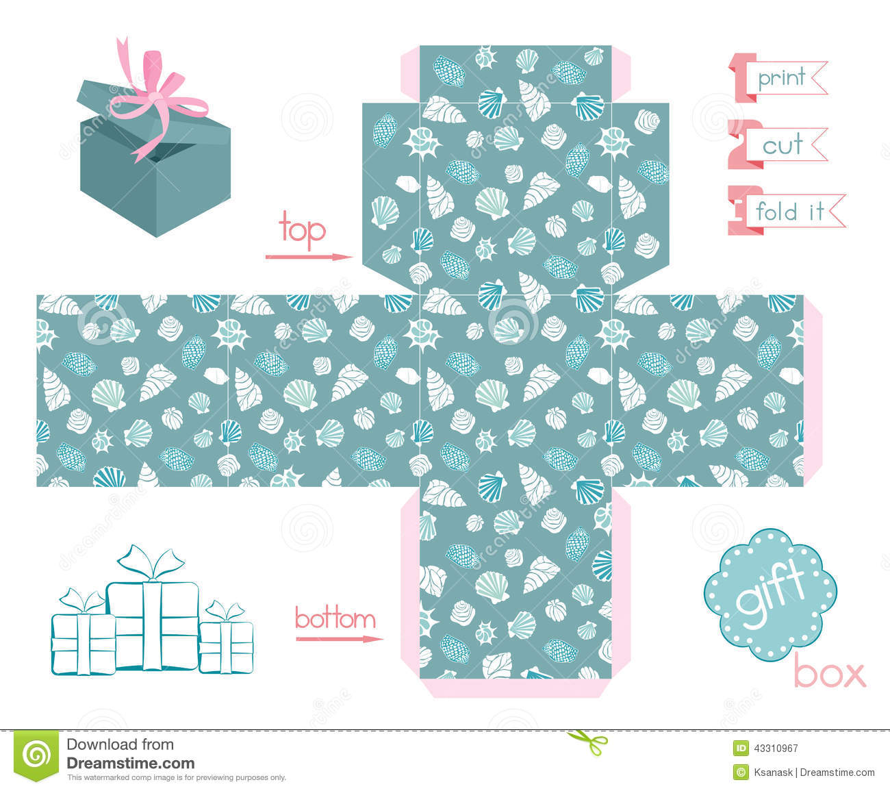image about Printable Gift Box identify Printable Reward Box Distinct Ss Inventory Vector