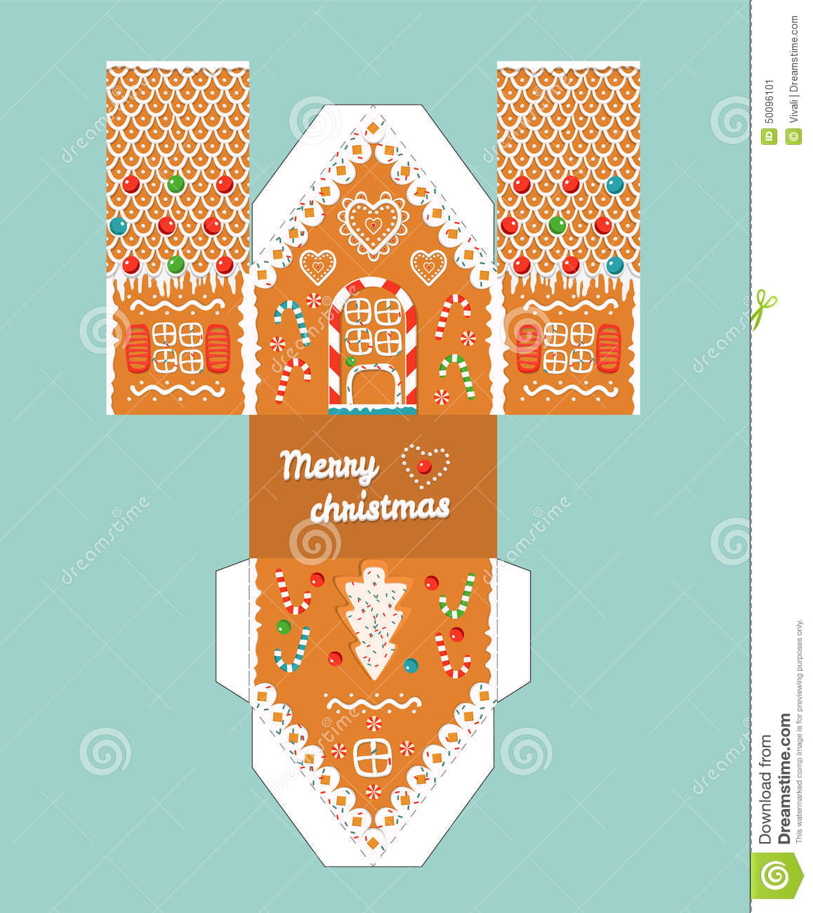paper gingerbread house template printable - photo #20
