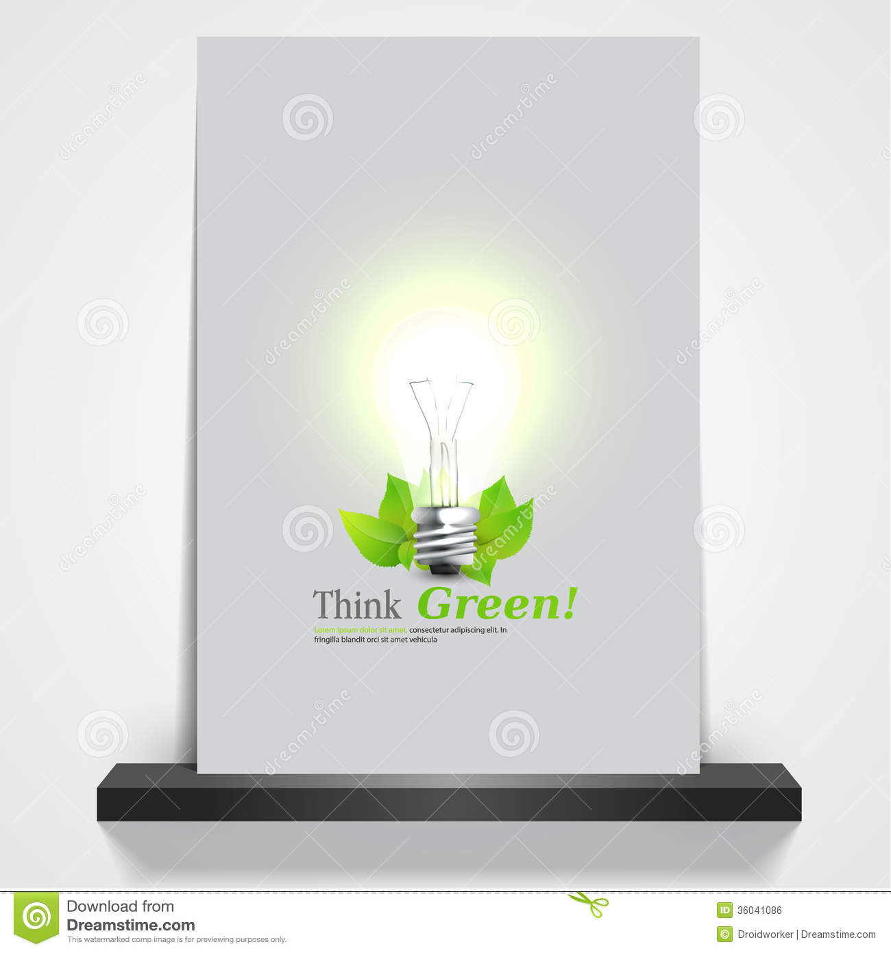 printable green eco magazine or flyer cover d light bulb printable green eco magazine or flyer cover 3d light bulb illustration