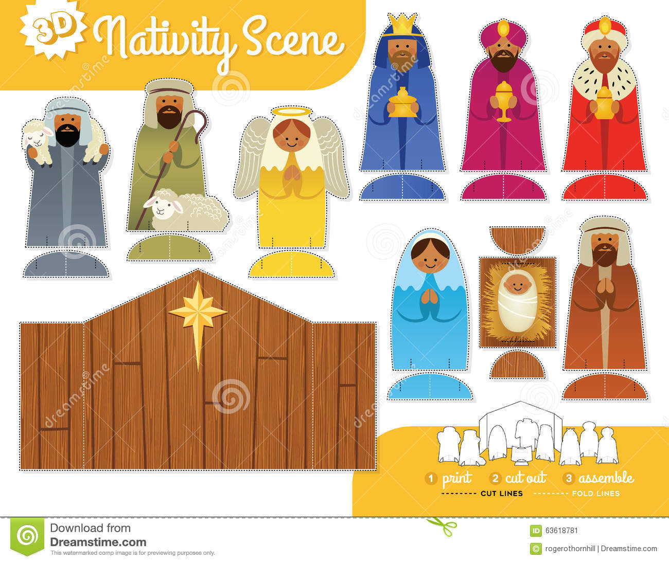 picture about Printable Nativity identify Printable Nativity Fastened inventory vector. Case in point of