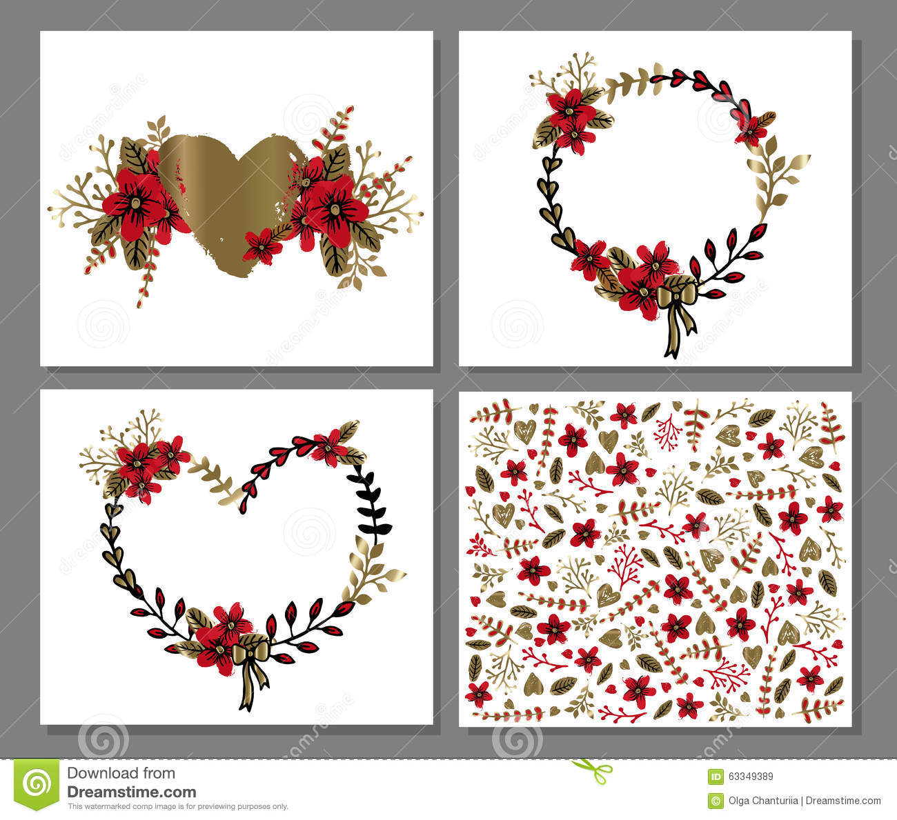 image about Printable Love Card known as Printable Passionate And Enjoy Card Template With Bouquets And