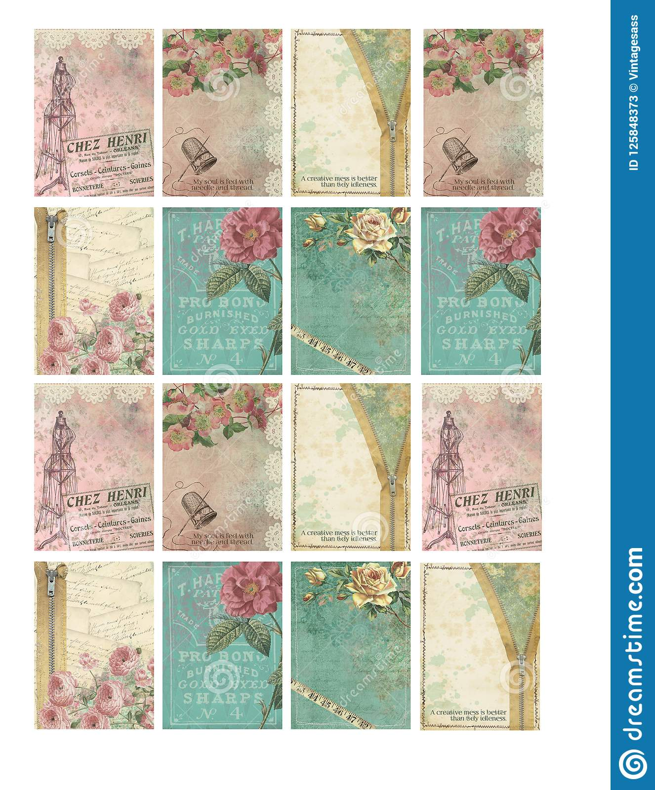 printable tag sheet vintage sewing notions stitchery journal cards