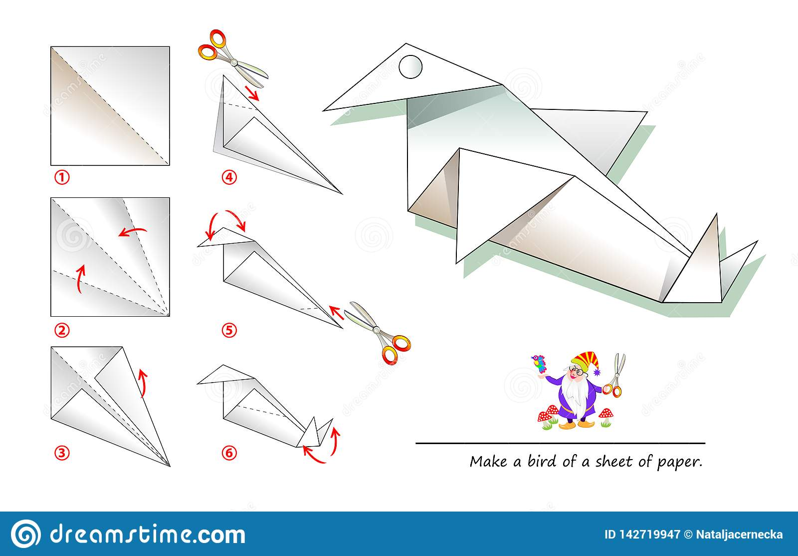 Origami from the game Heavy Rain : PixelArt | 1113x1600