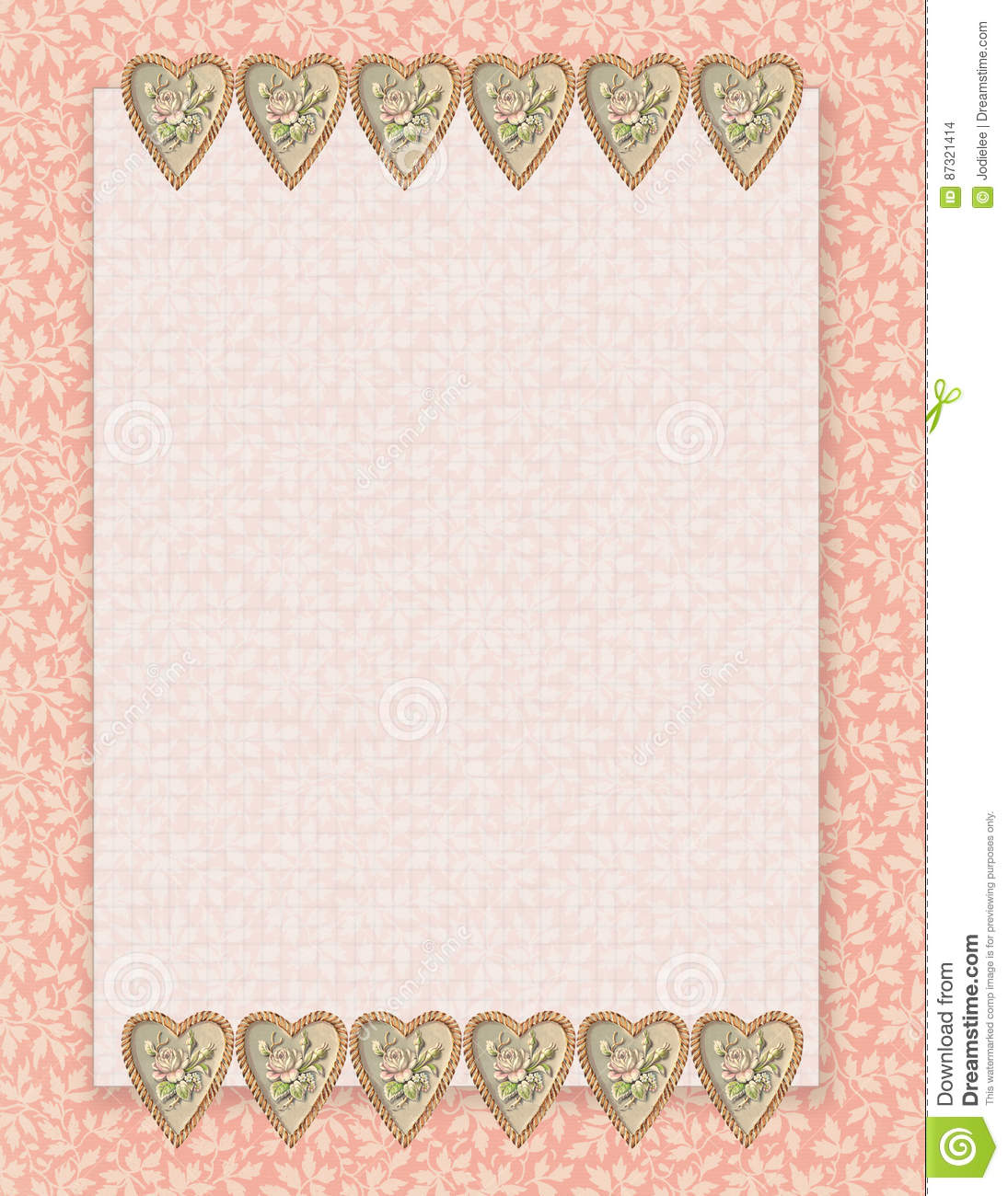 graphic about Stationary Printable called Printable Traditional Shabby Stylish Design and style Floral Stationary Upon