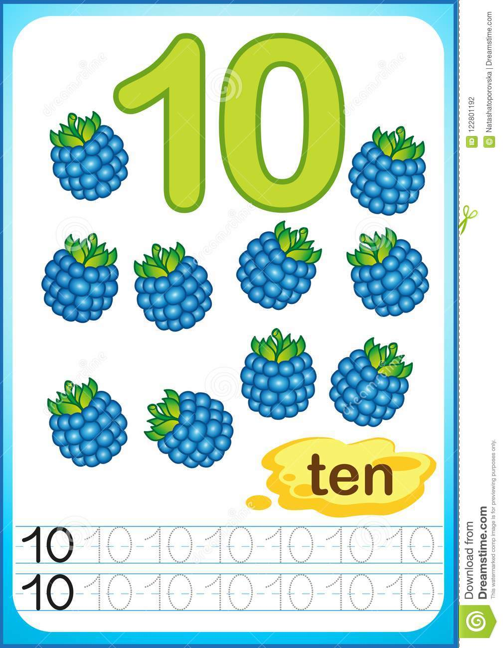 Printable Worksheet For Kindergarten And Preschool. Harvest Of Ripe ...