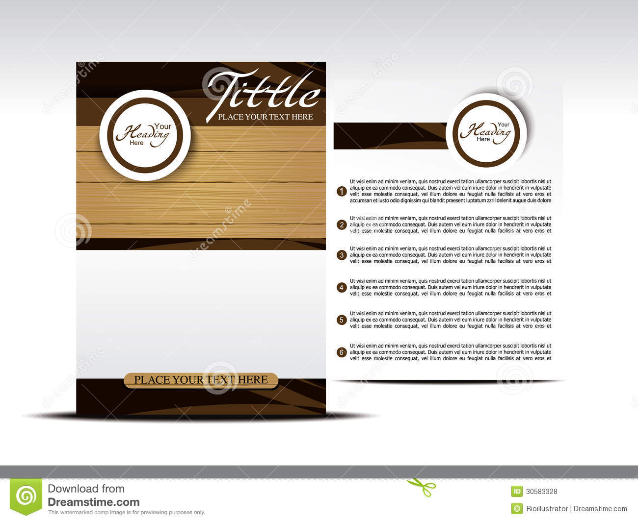 ... Design With Wood Effect Royalty Free Stock Photos - Image: 30583328