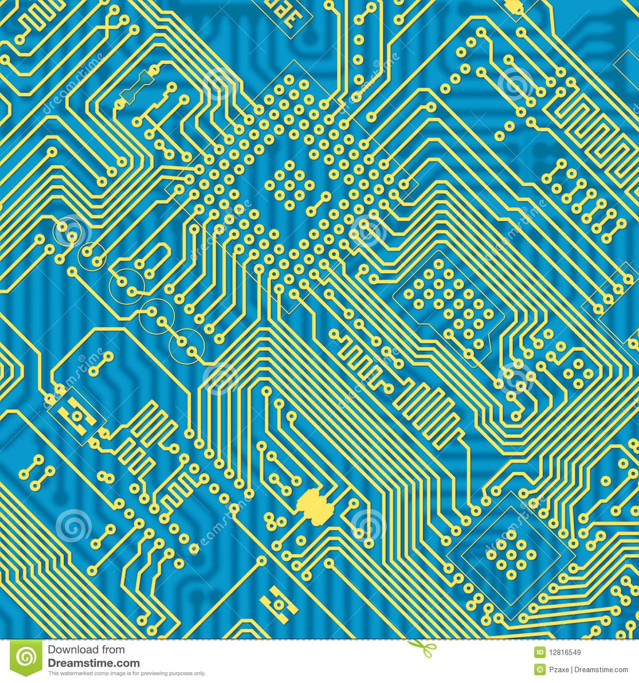 printed blue industrial circuit board texture royalty free