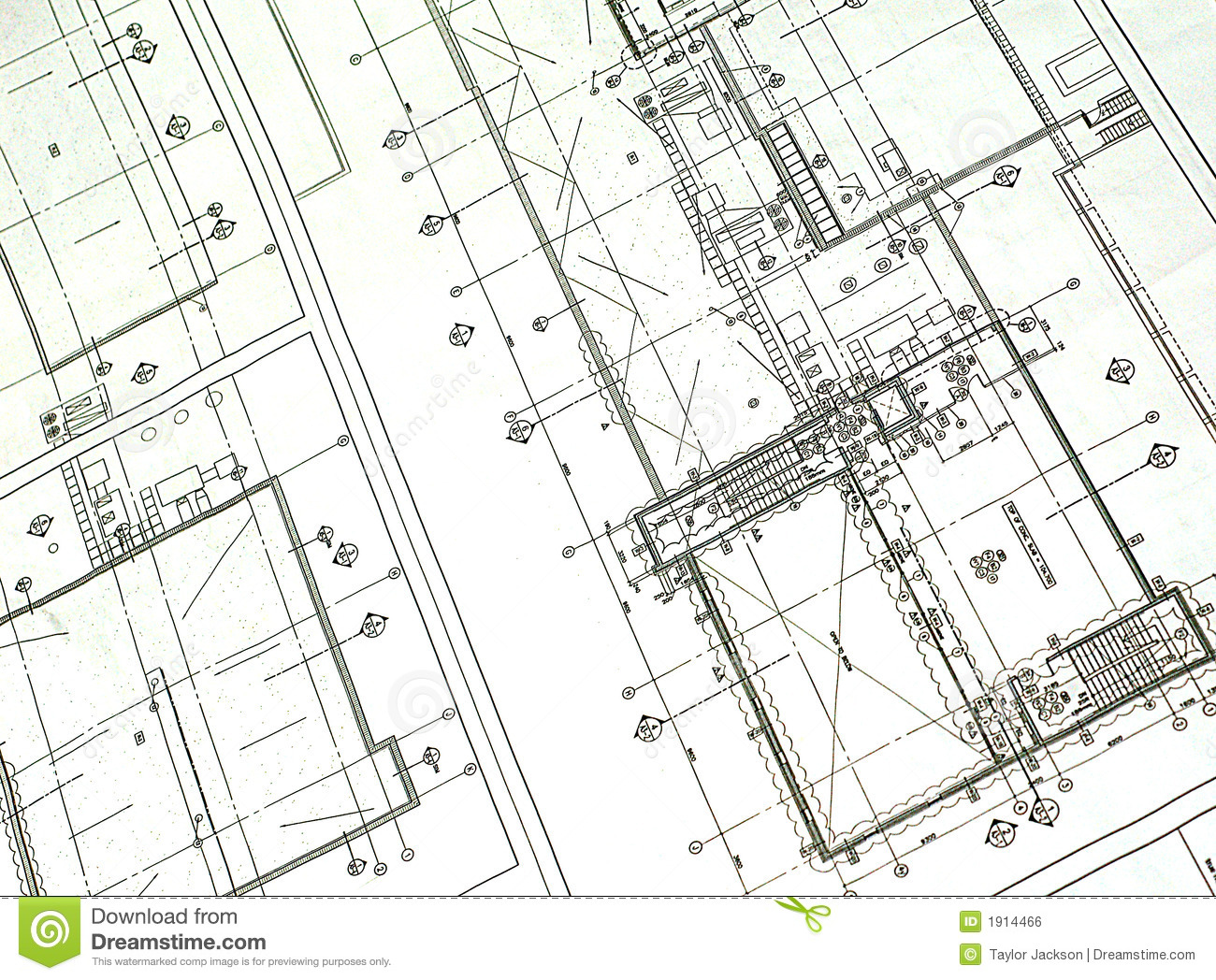 Printed blueprint royalty free stock image image 1914466 for Where to get blueprints printed