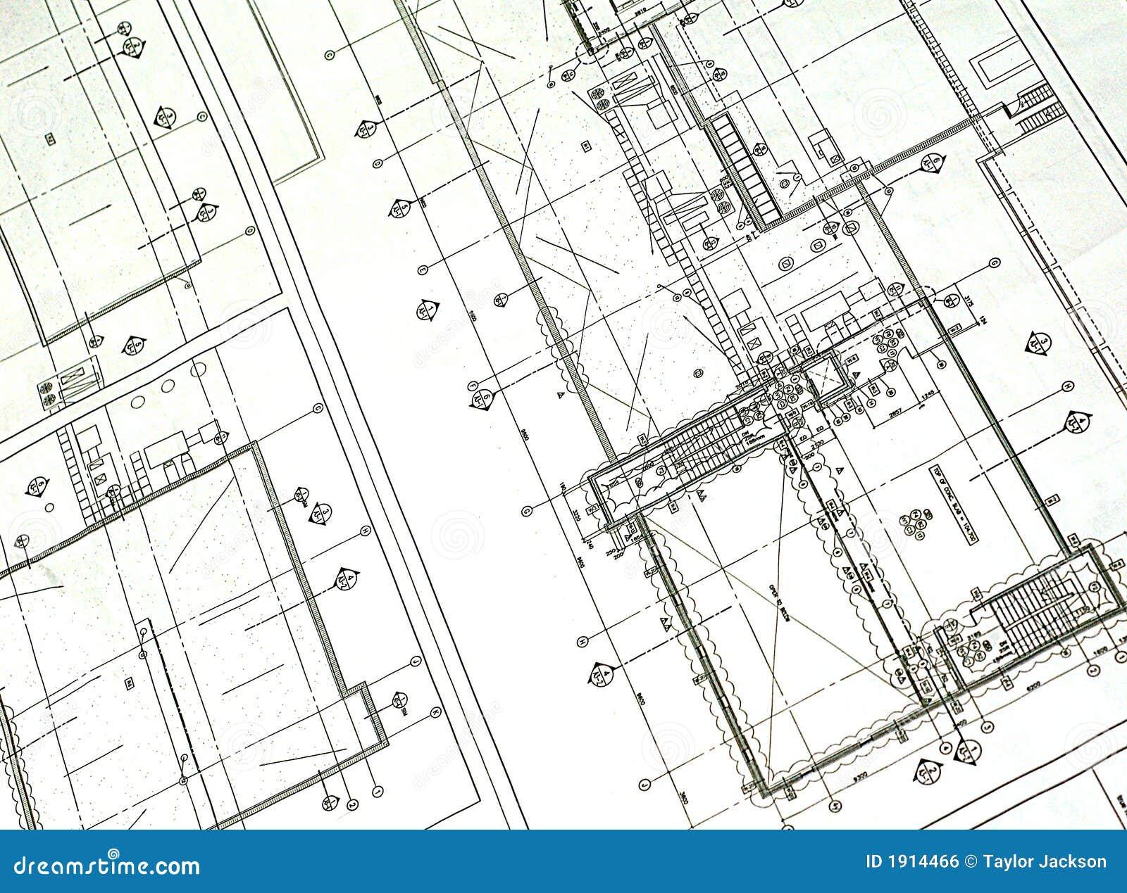 Printed Blueprint Royalty Free Stock Image Image 1914466