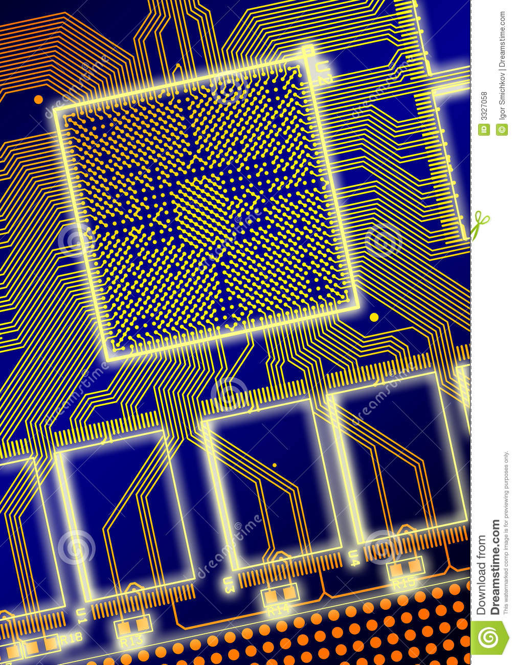 Printed Circuit Board Royalty Free Stock Photos Image 28246598