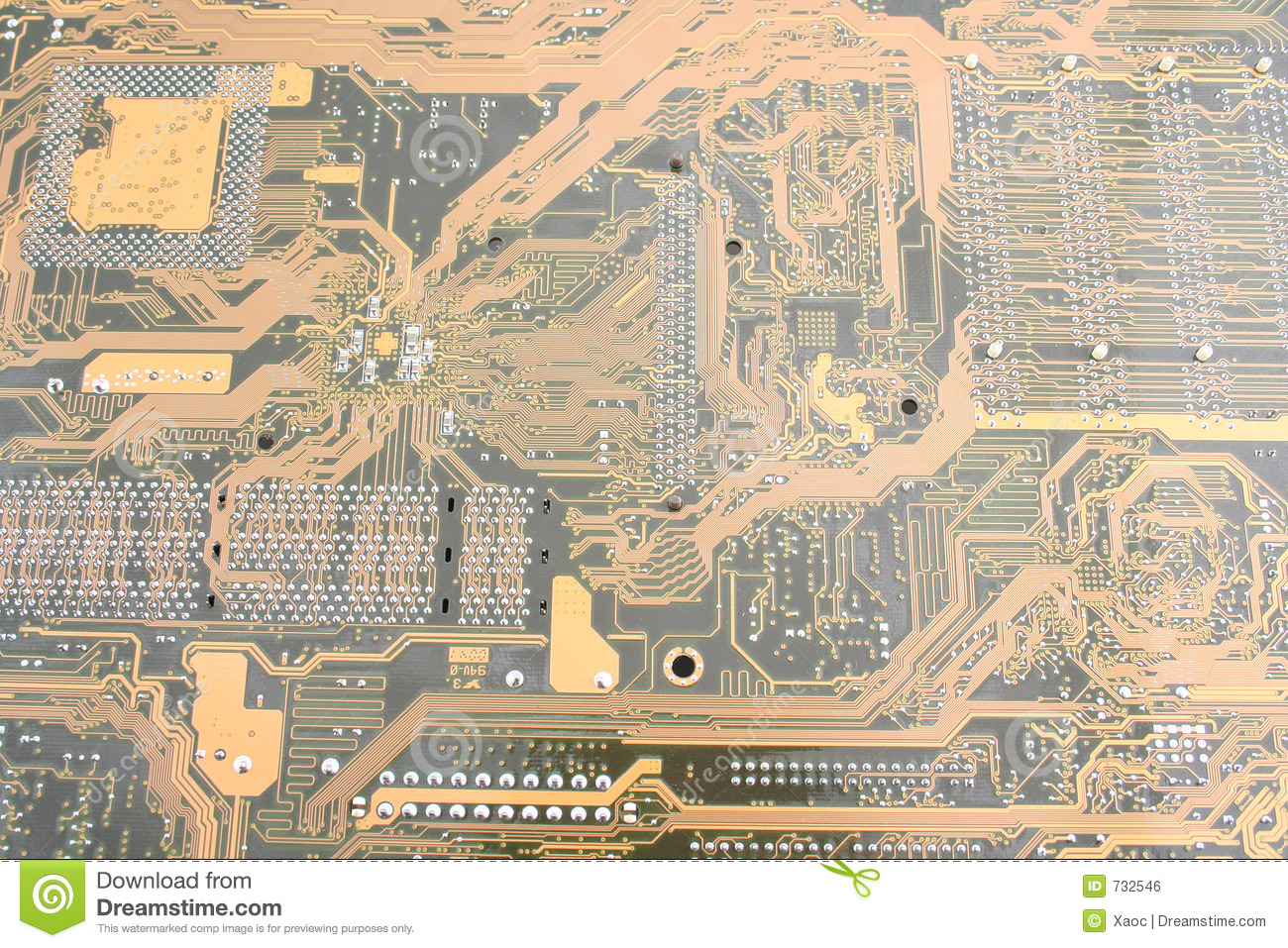 Printed Circuit Board Royalty Free Stock Photos Image 28246598 732546