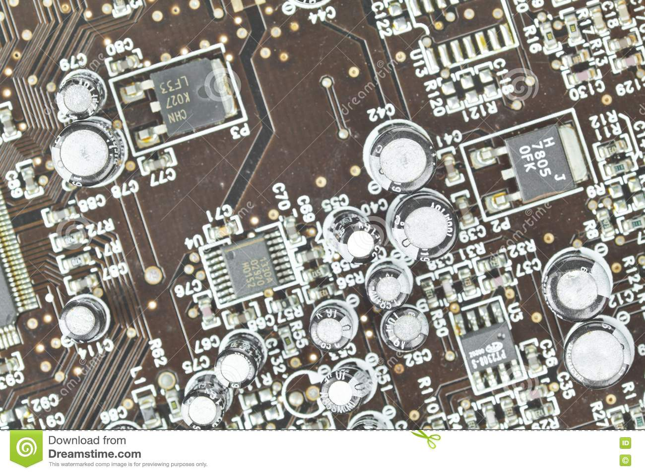 the printed circuit board  electronic components royalty