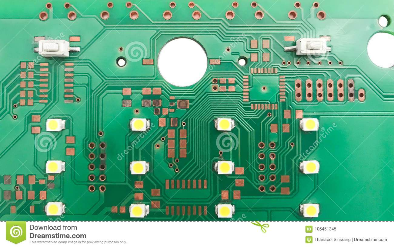 Printed Circuit Board Layout Stock Image - Image of network ...