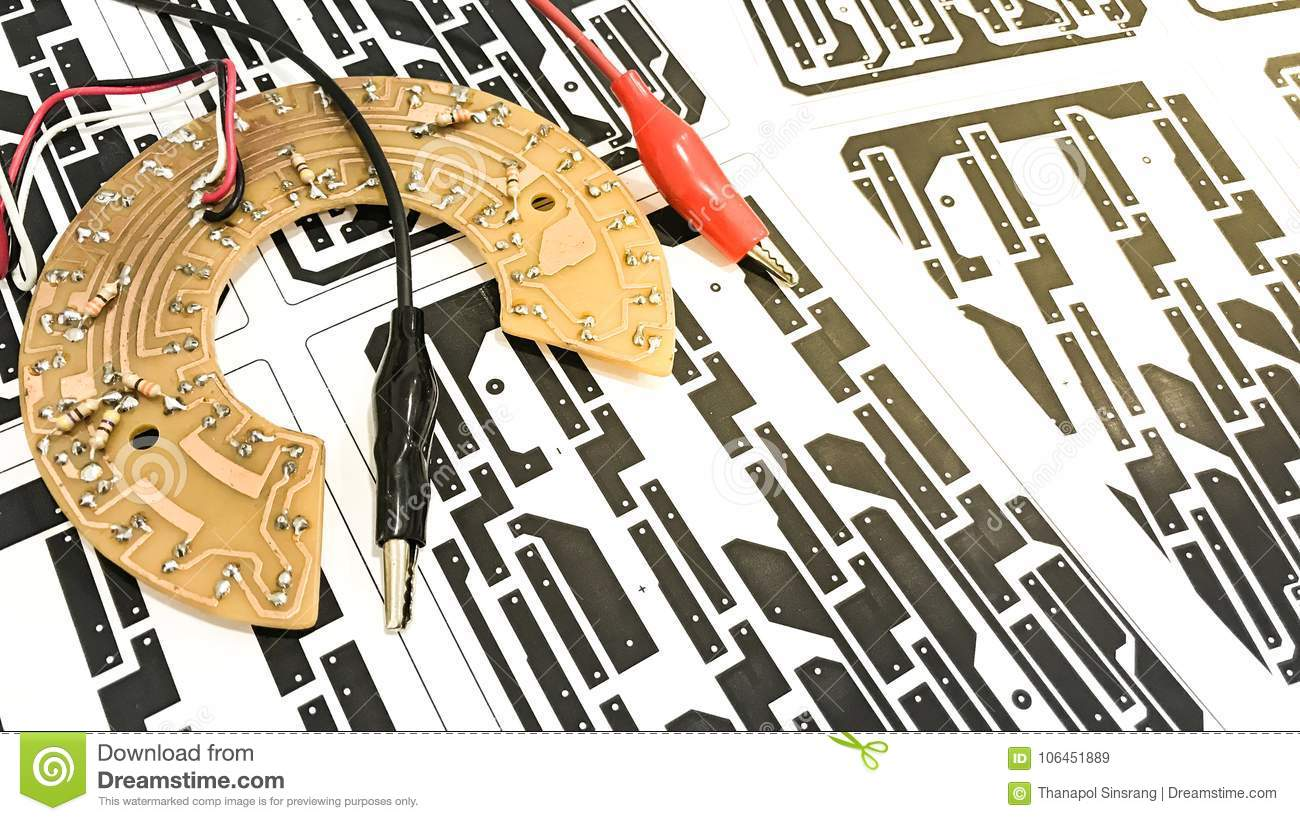 Printed Circuit Board Layout Stock Image Of Paper Download Motherboard 106451889